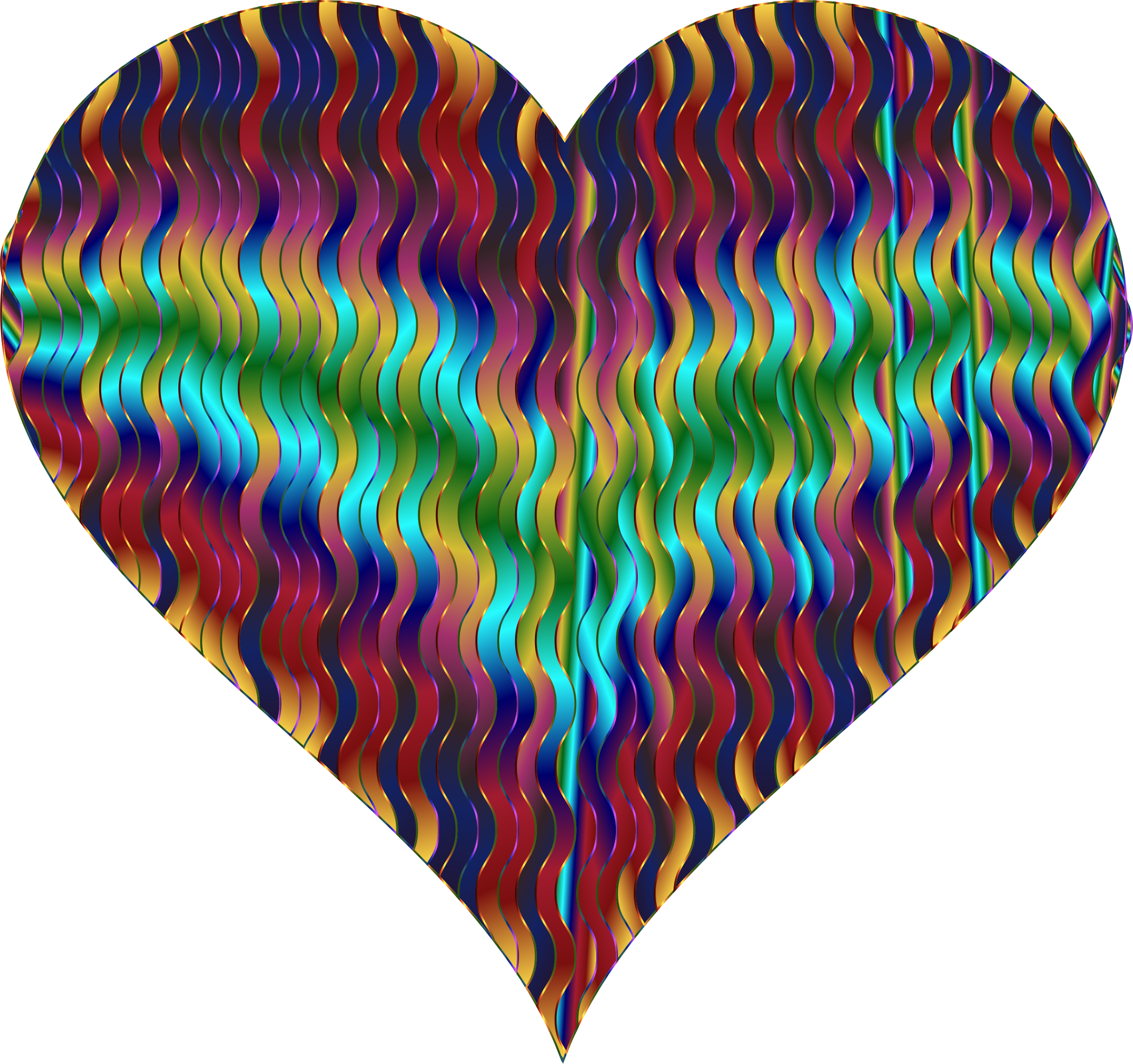 Colorful Wavy Heart 6 by GDJ