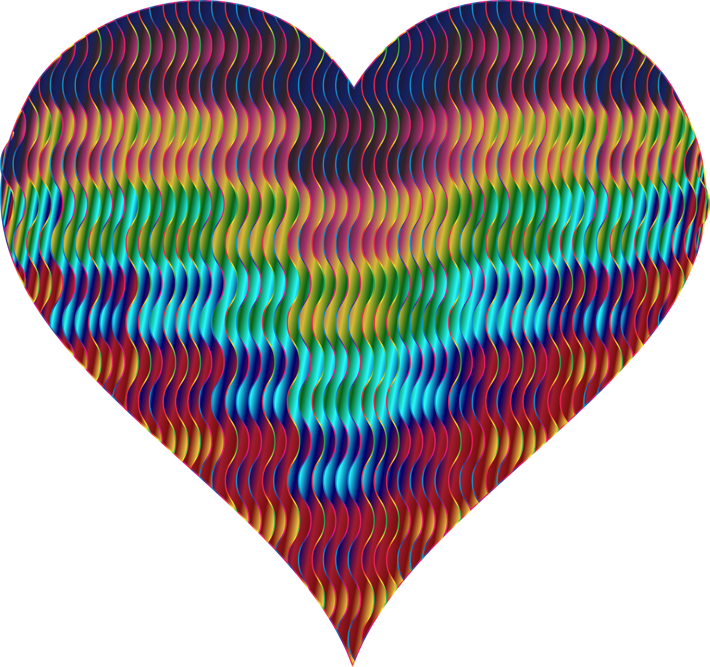 Colorful Wavy Heart 7 by GDJ