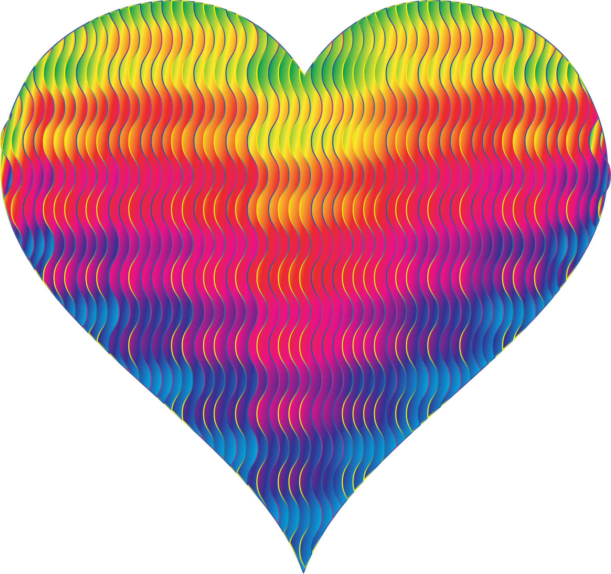 Colorful Wavy Heart 8 by GDJ