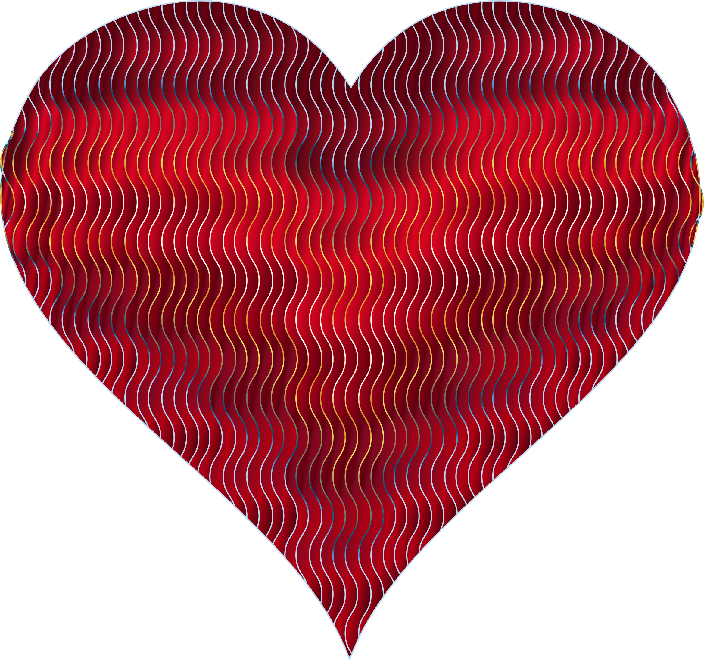 Colorful Wavy Heart 9 by GDJ