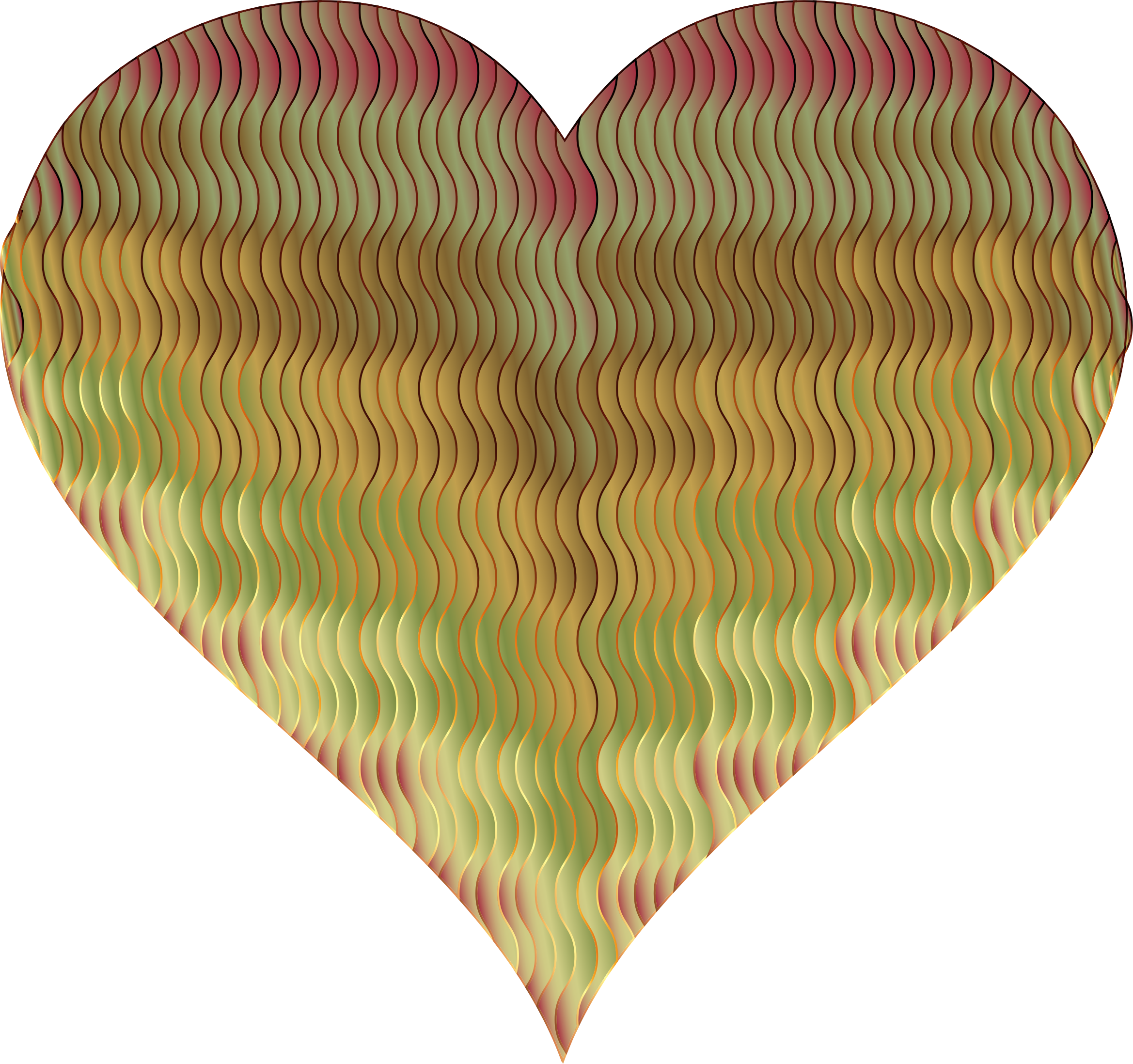 Colorful Wavy Heart 11 by GDJ