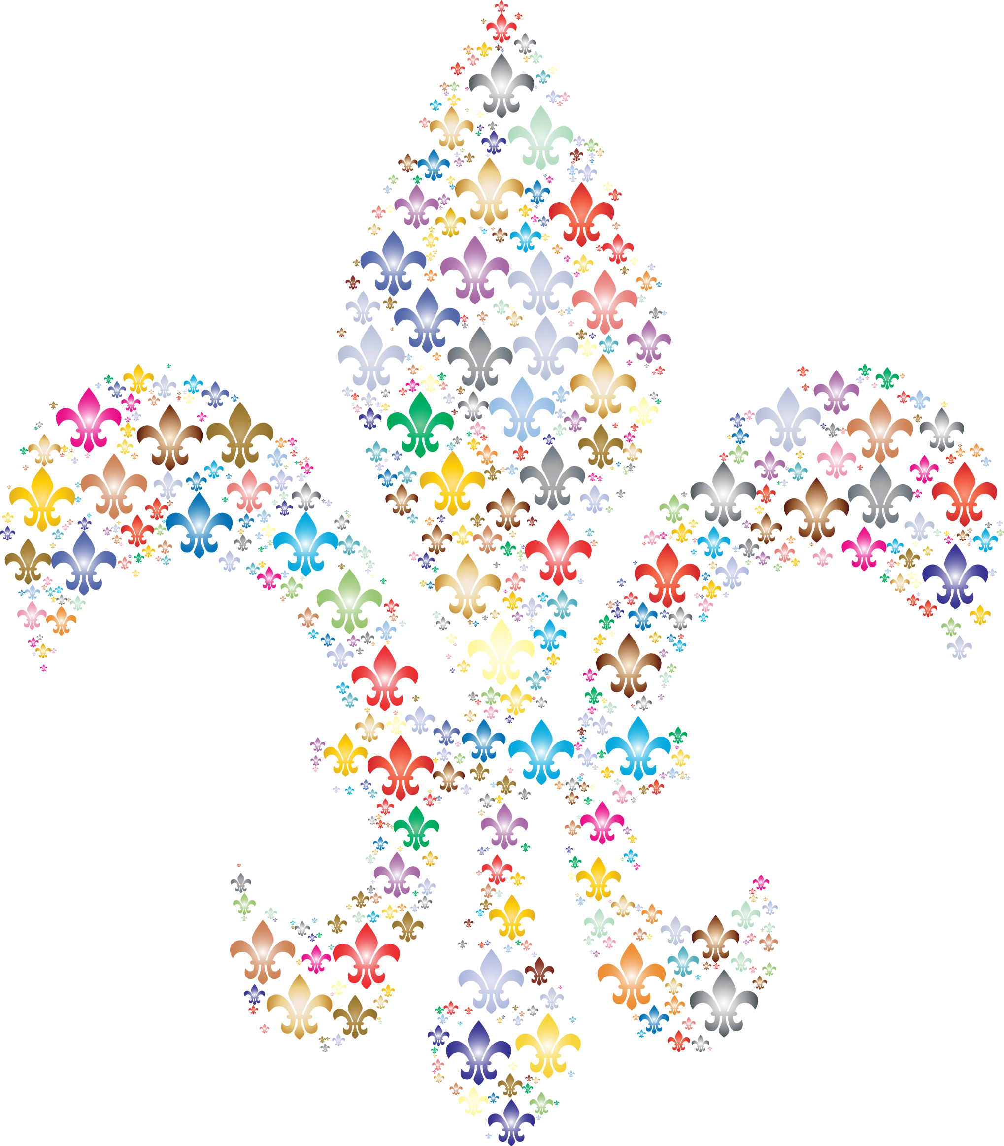 Colorful Fleur De Lis Fractal 2 by GDJ