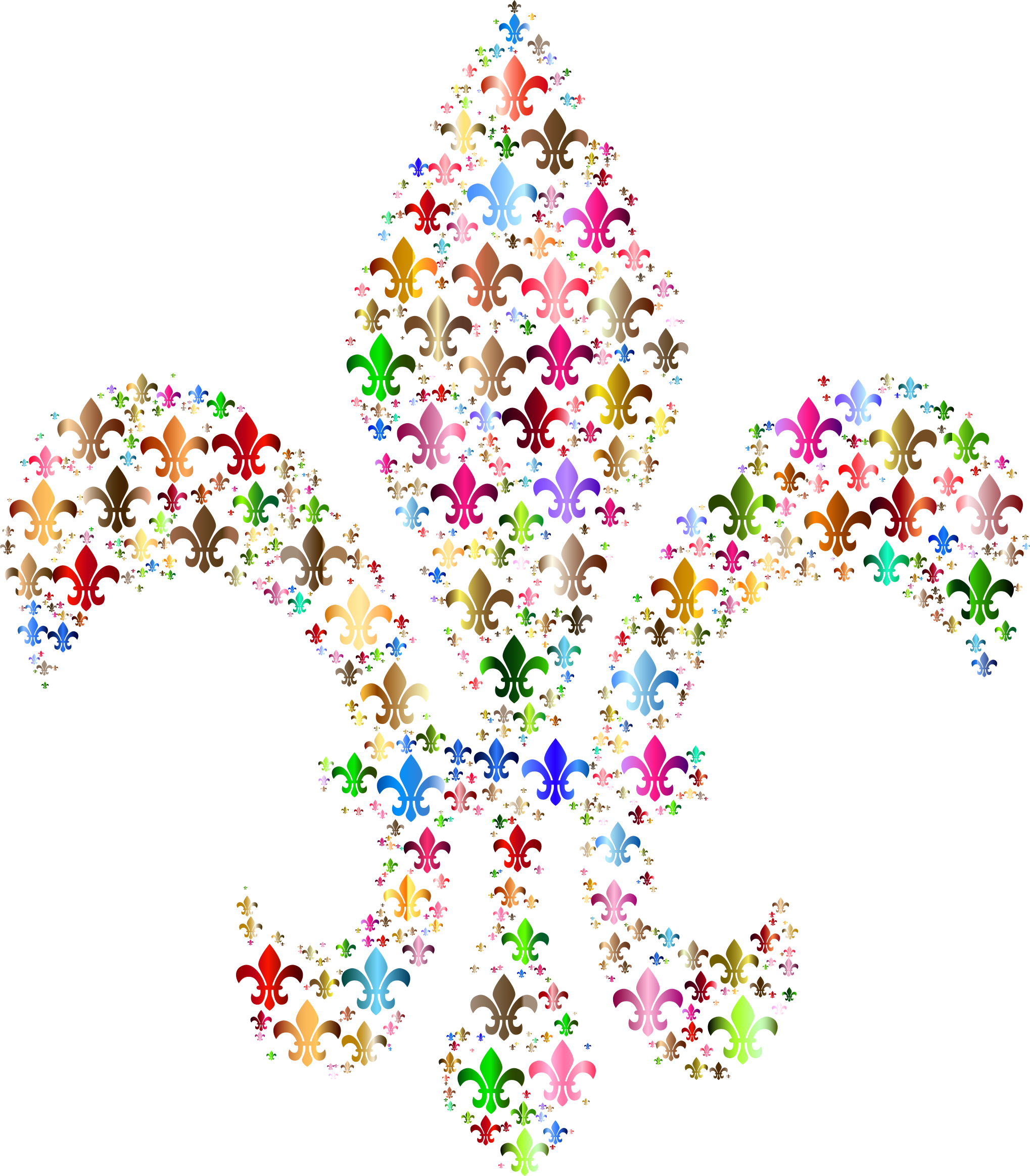 Colorful Fleur De Lis Fractal 3 by GDJ