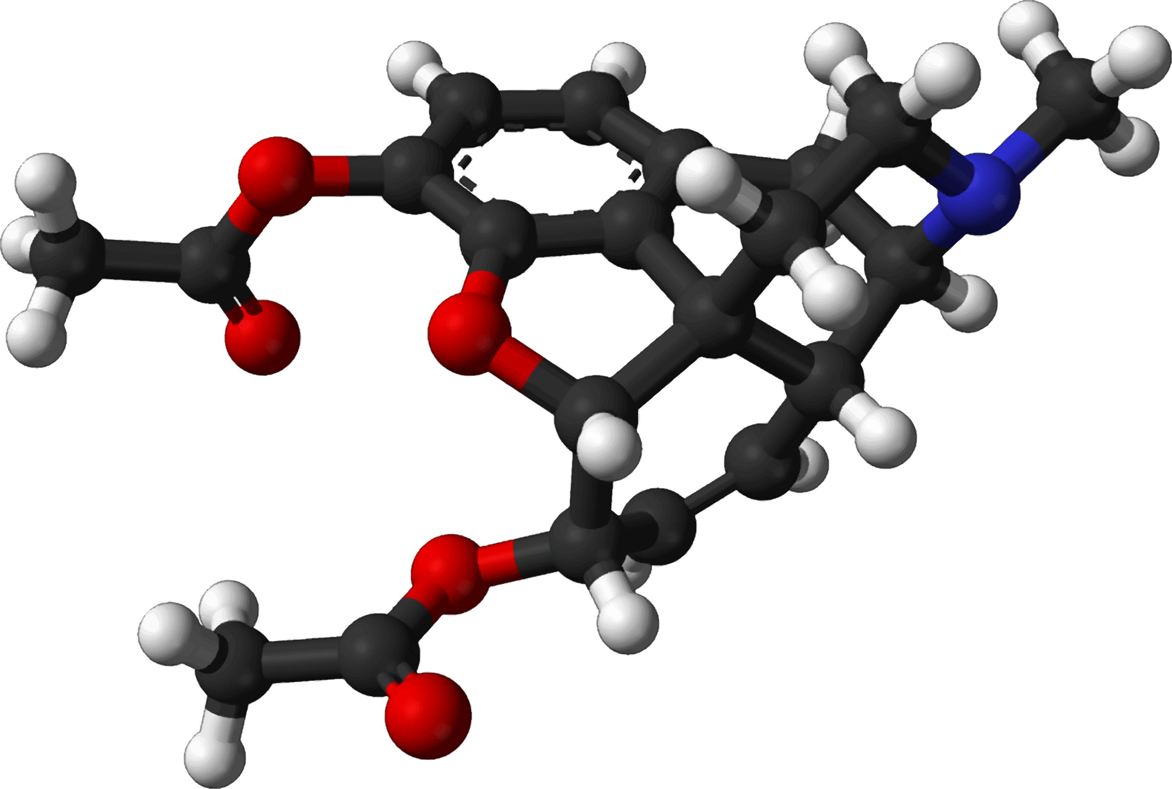 Famous (and infamous) molecules 11 - heroin by Firkin