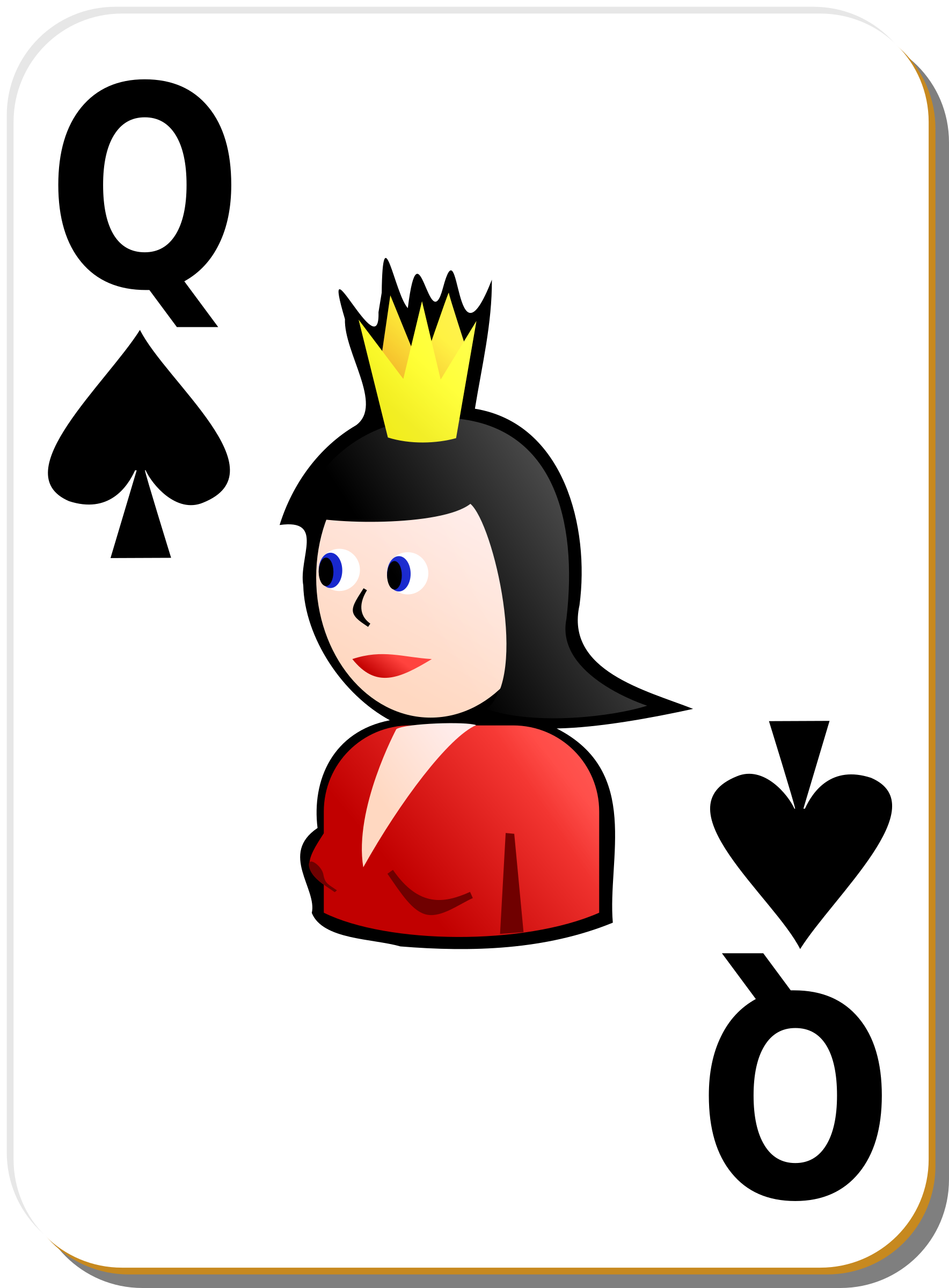 White deck: Queen of spades by nicubunu
