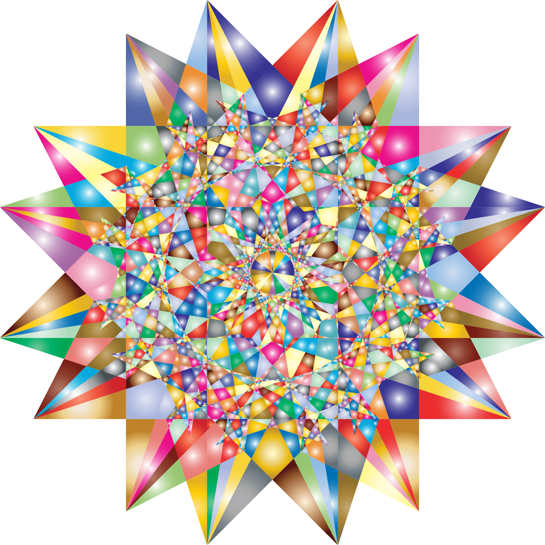 Colorful Geometric Star 6 Variation 2 by GDJ