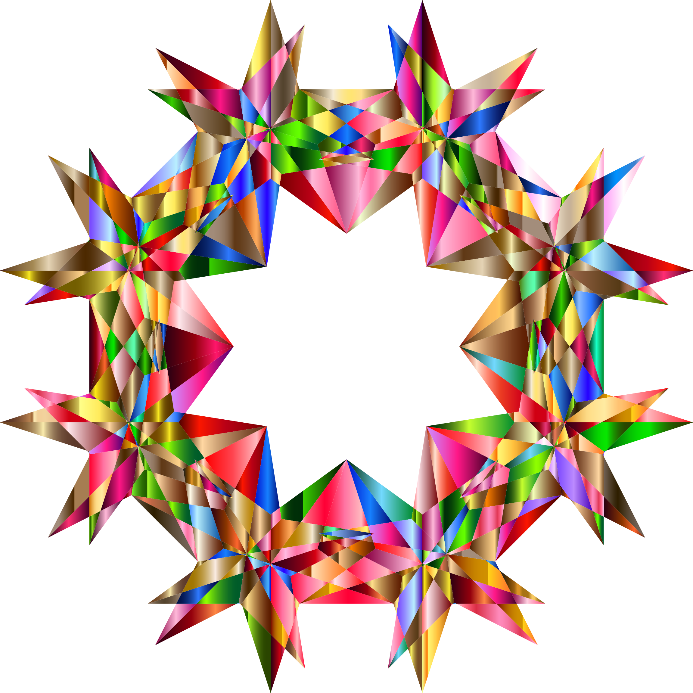 Colorful Geometric Star 7 Variation 2 by GDJ