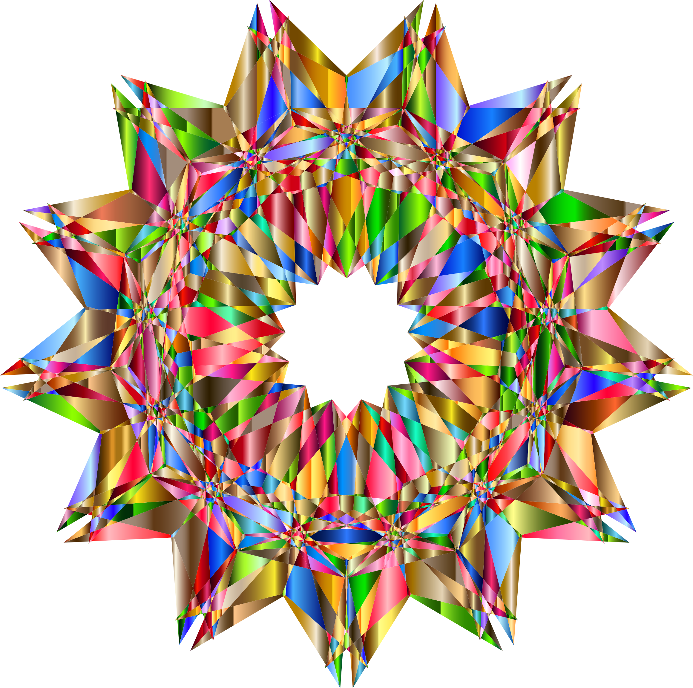Colorful Geometric Star 8 by GDJ