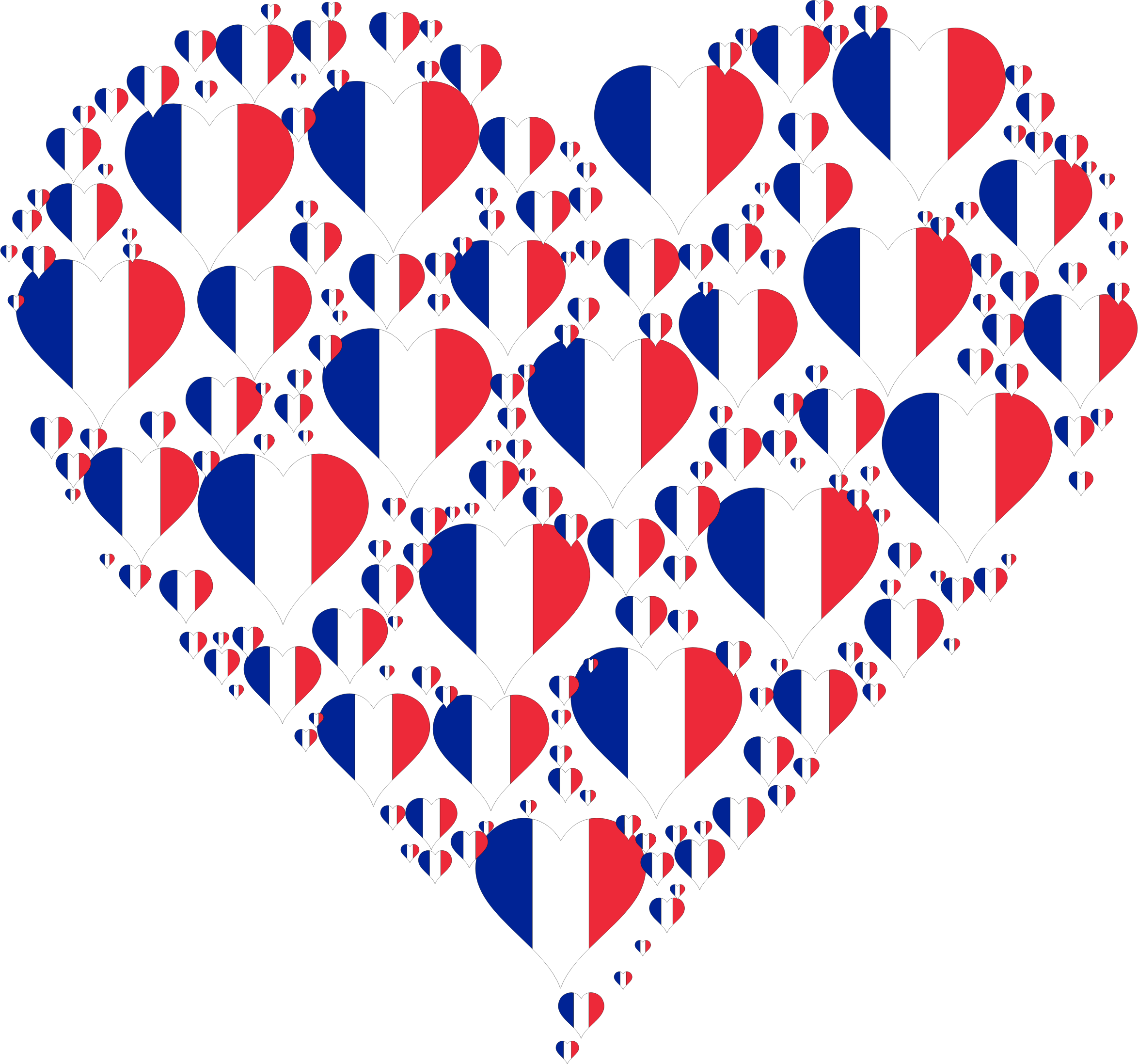 Heart France Fractal by GDJ