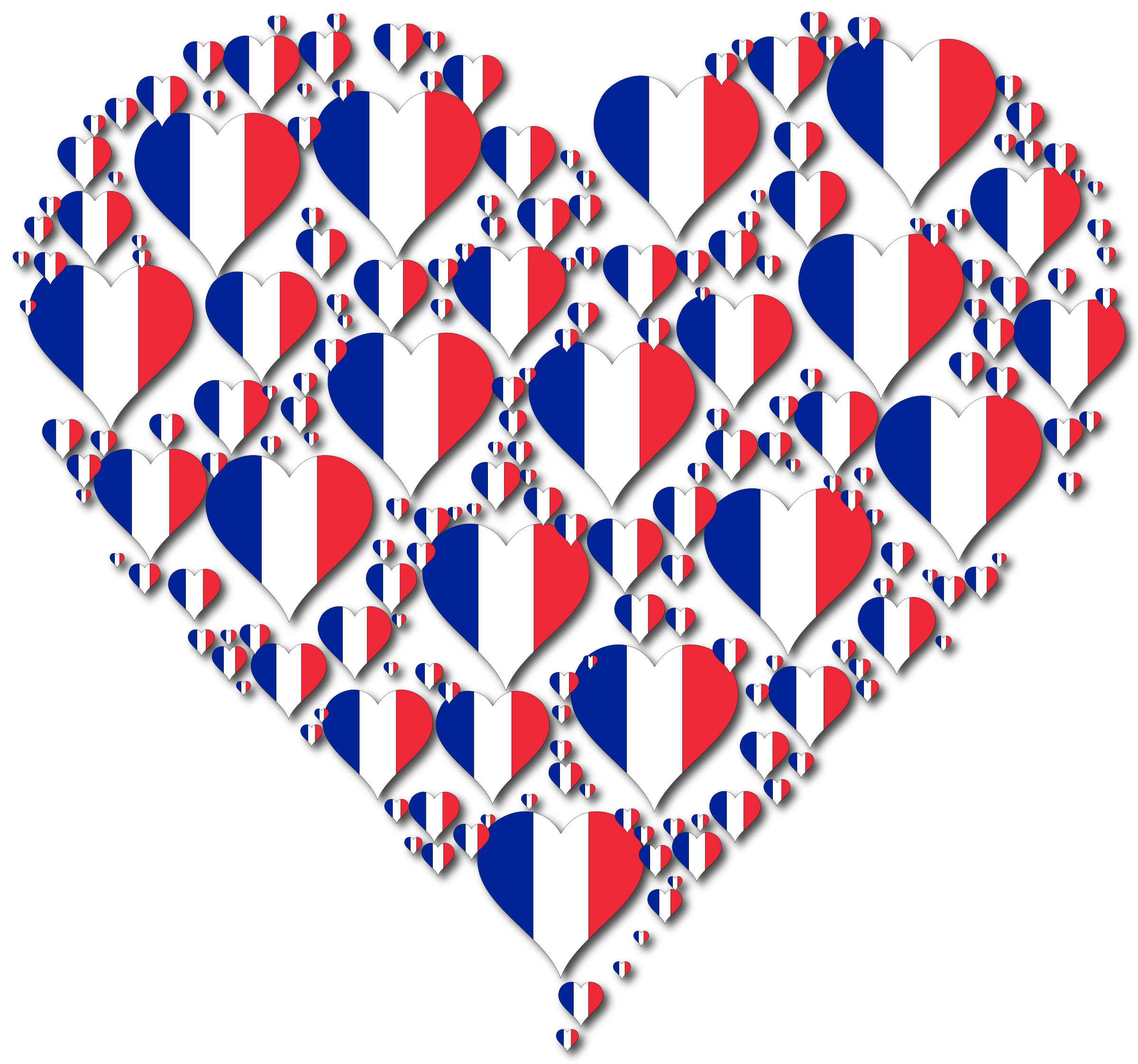 Heart France Fractal With Shadow by GDJ