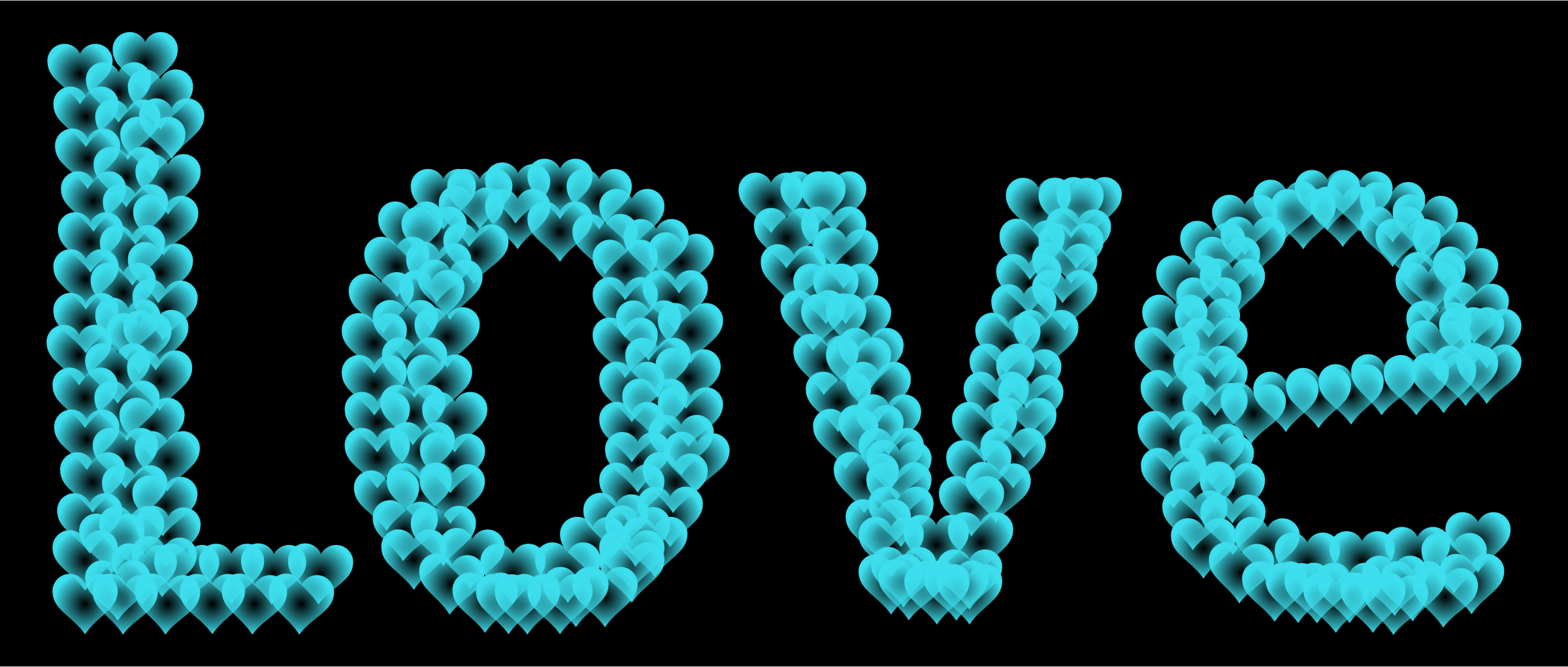 Love Heart Typography Redux 12 by GDJ