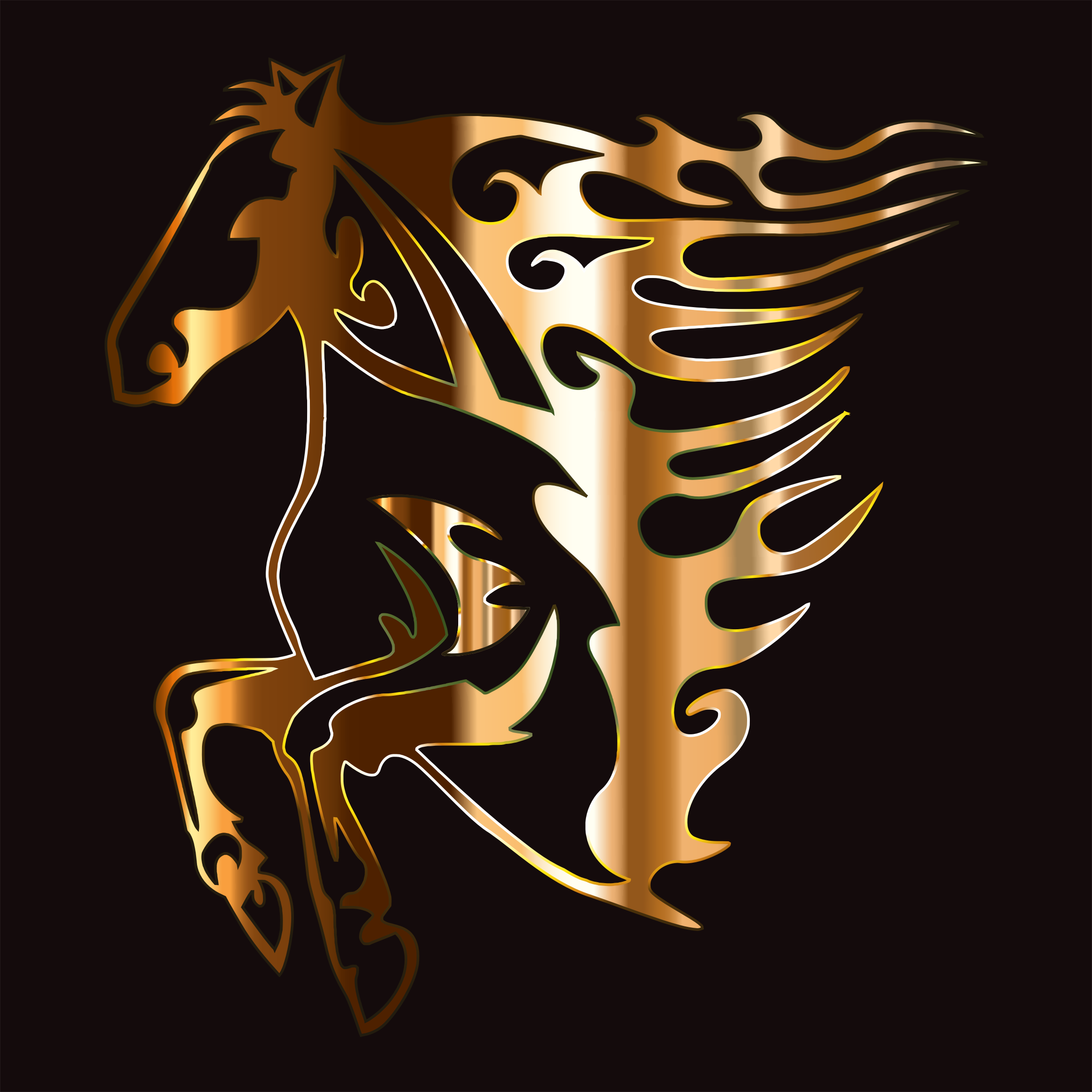 Golden Flame Horse by GDJ