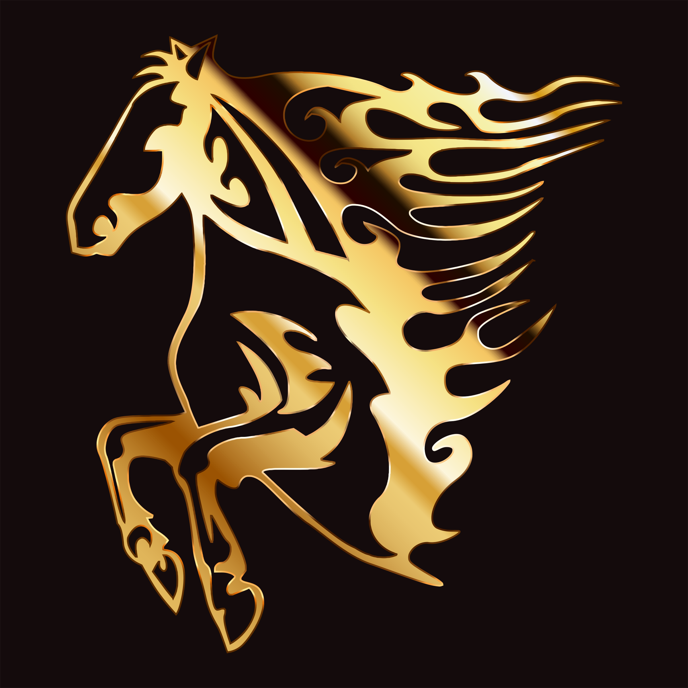 Golden Flame Horse 6 by GDJ