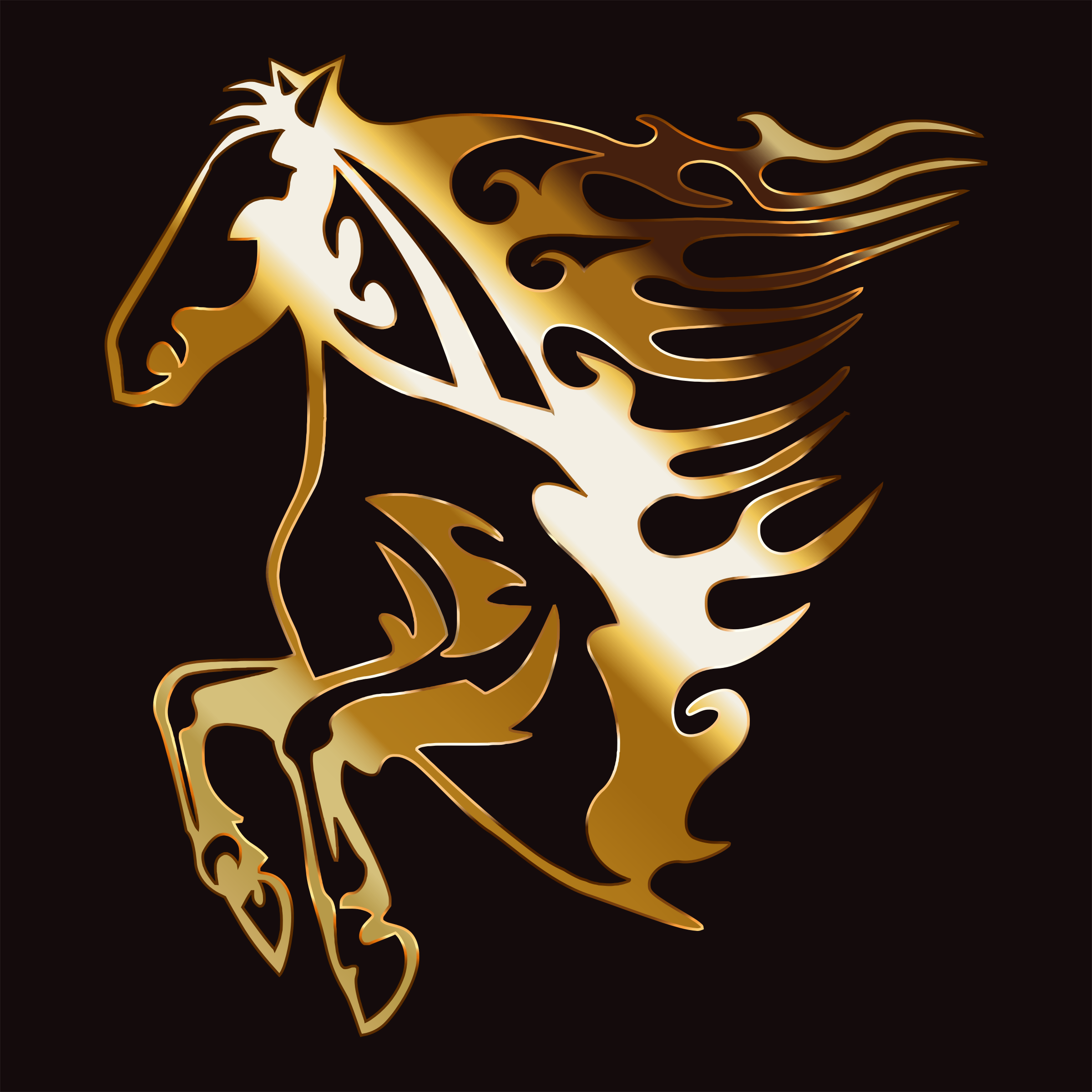 Golden Flame Horse 7 by GDJ