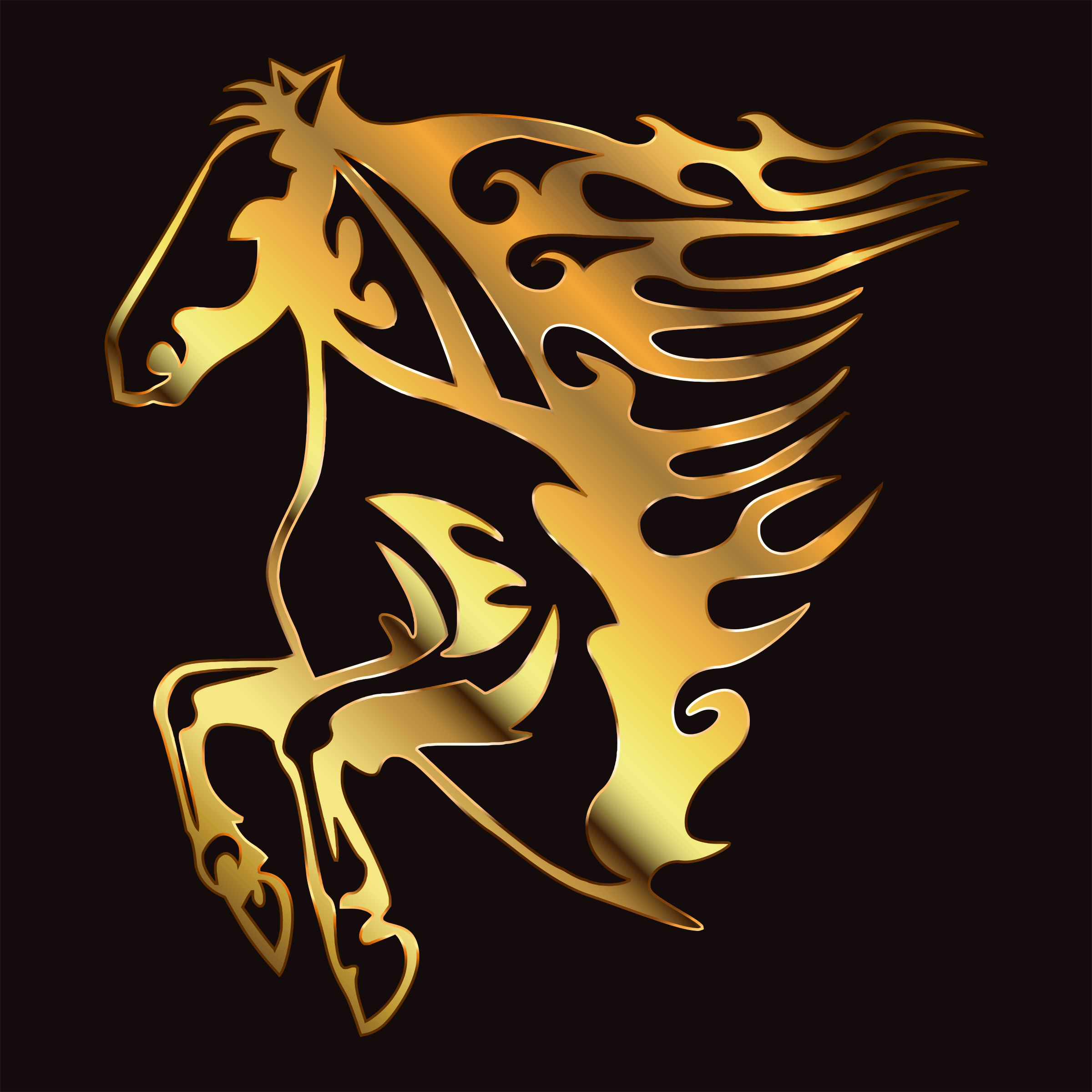 Golden Flame Horse 8 by GDJ