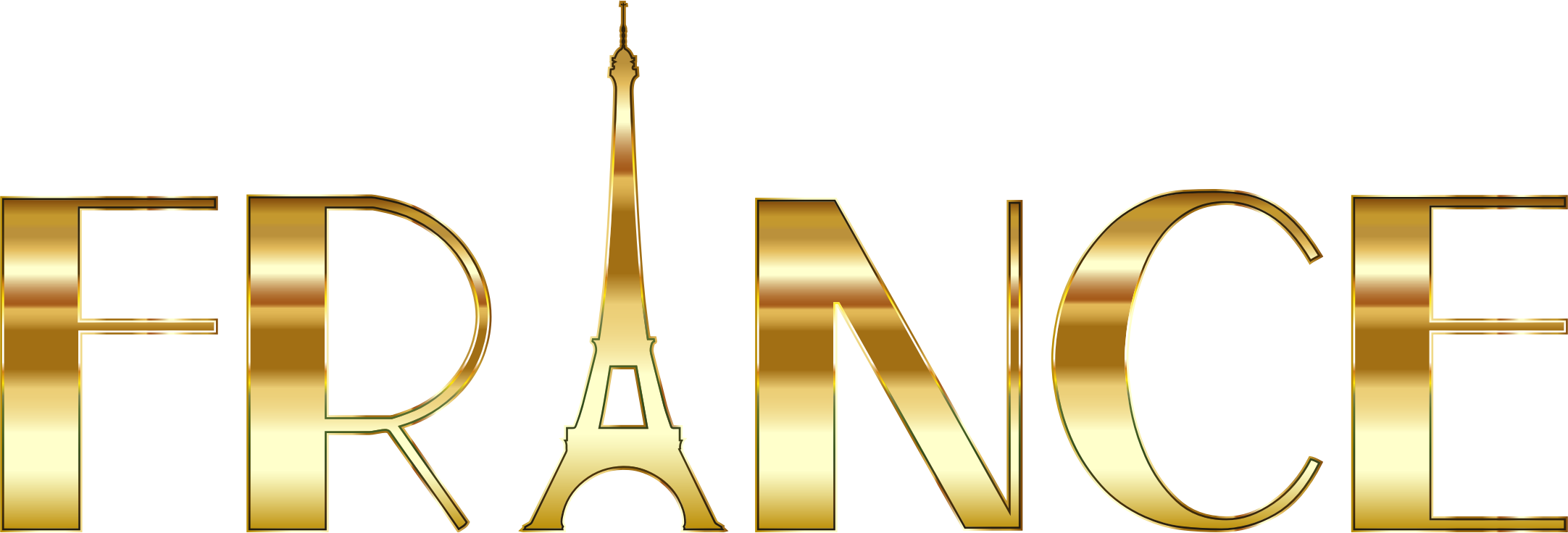 France Typography Gold by GDJ
