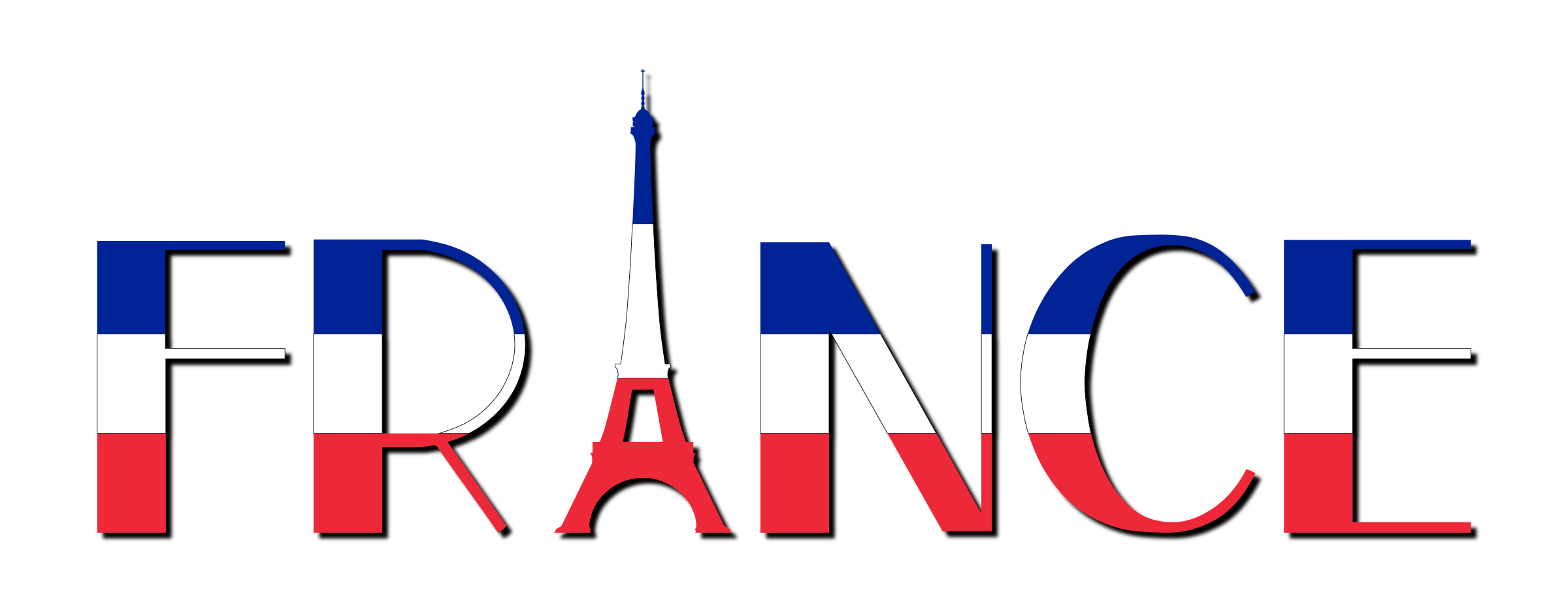 France Typography With Shadow by GDJ