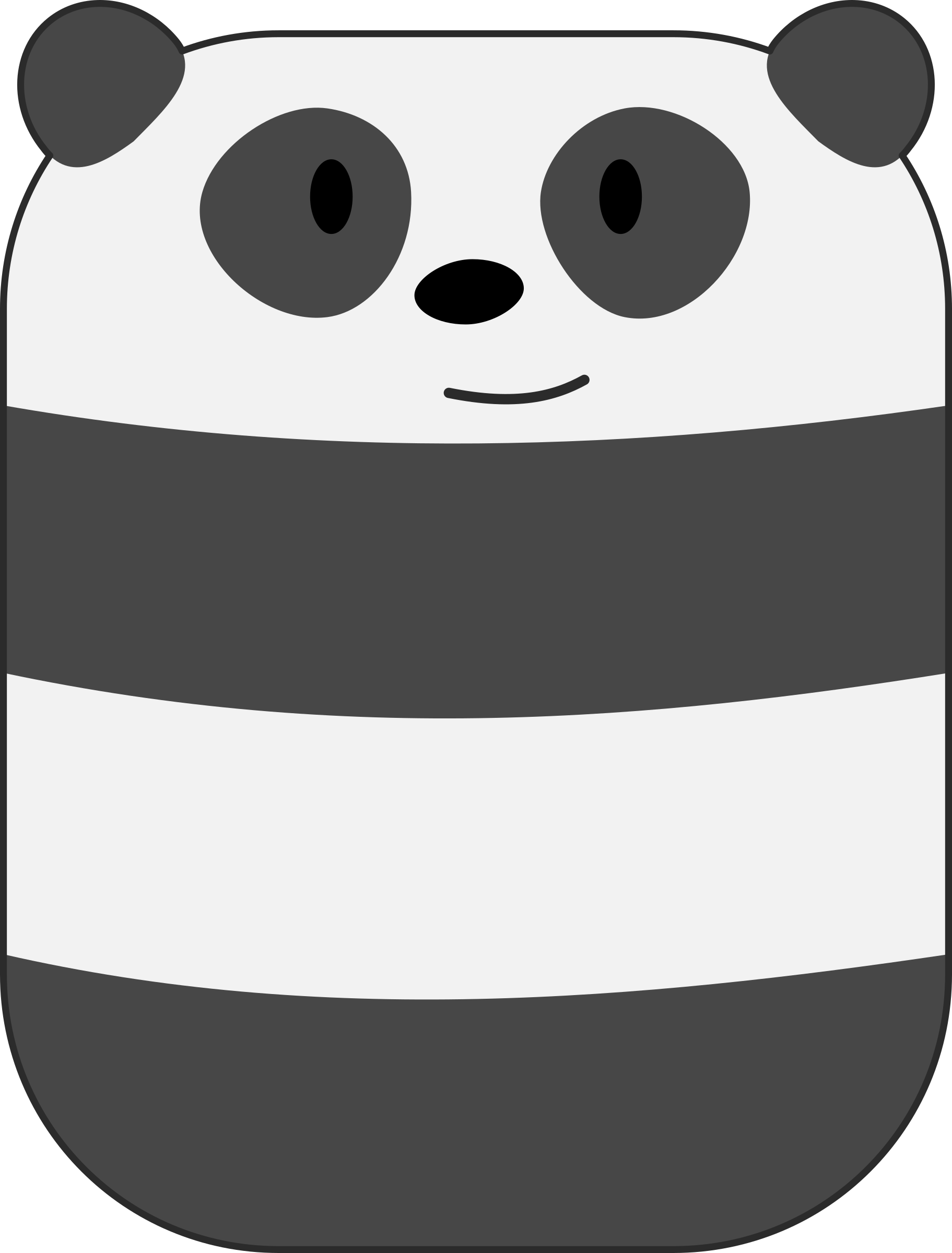 Smiling Panda by qubodup