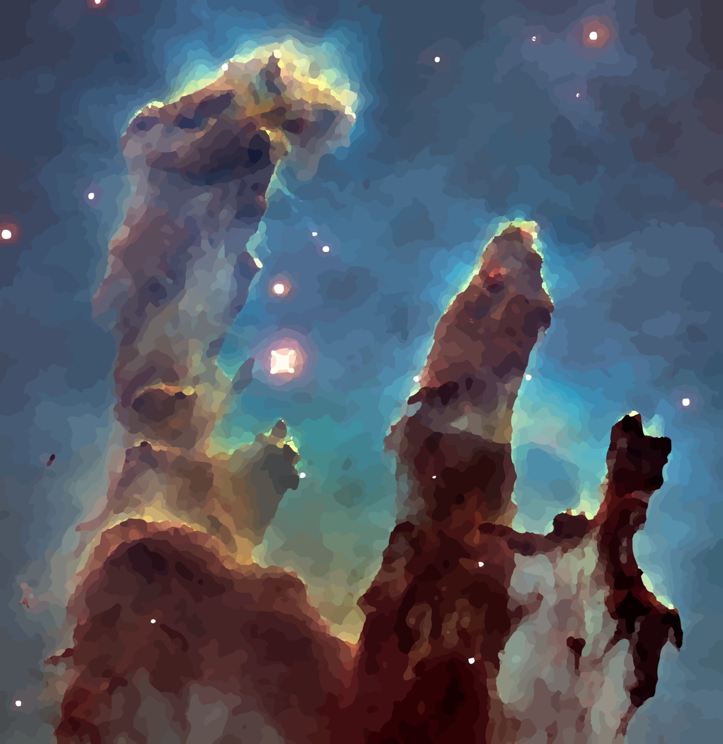 Pillars of Creation (oil painting effect) by Firkin