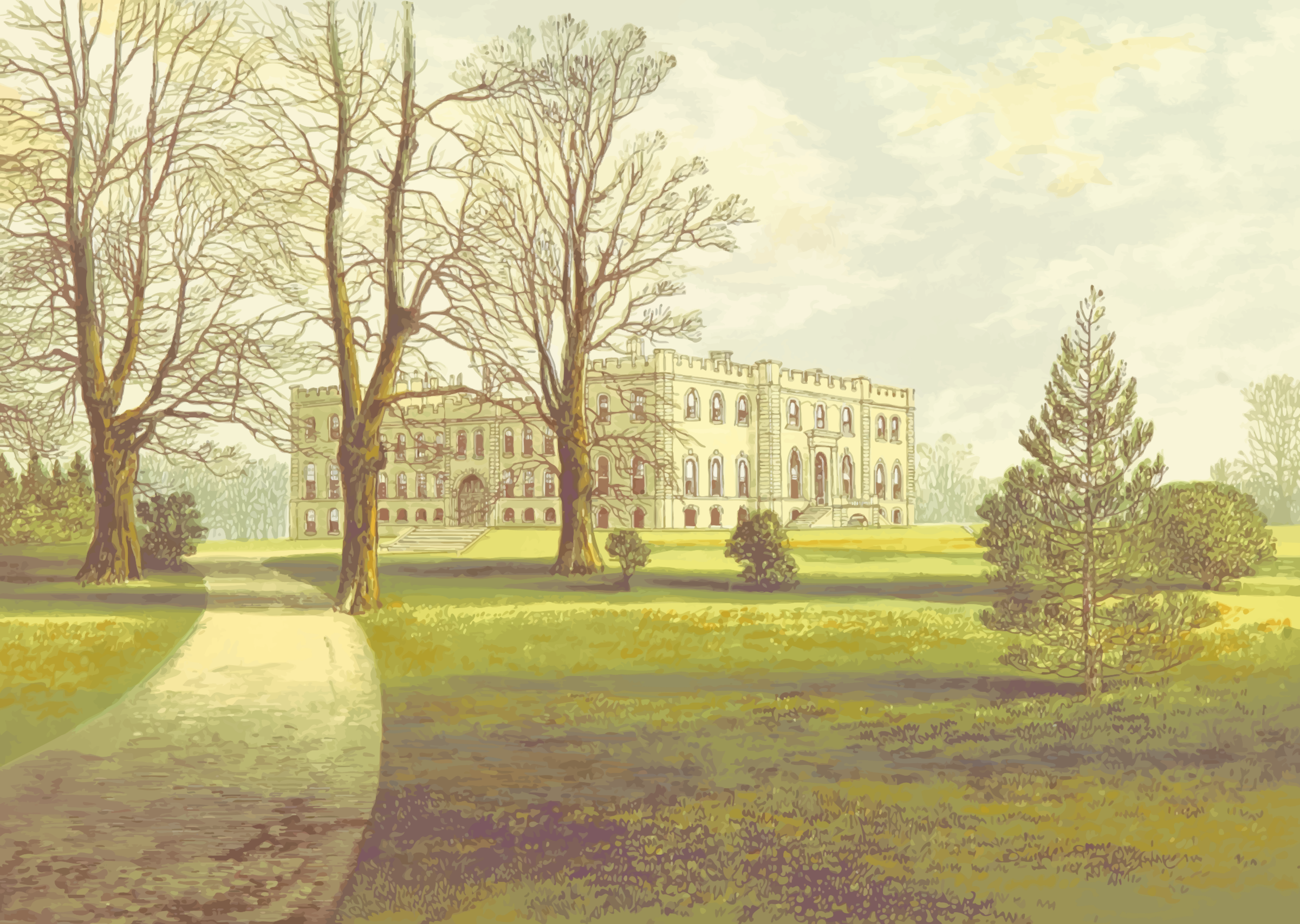 Kimbolton Castle by Firkin