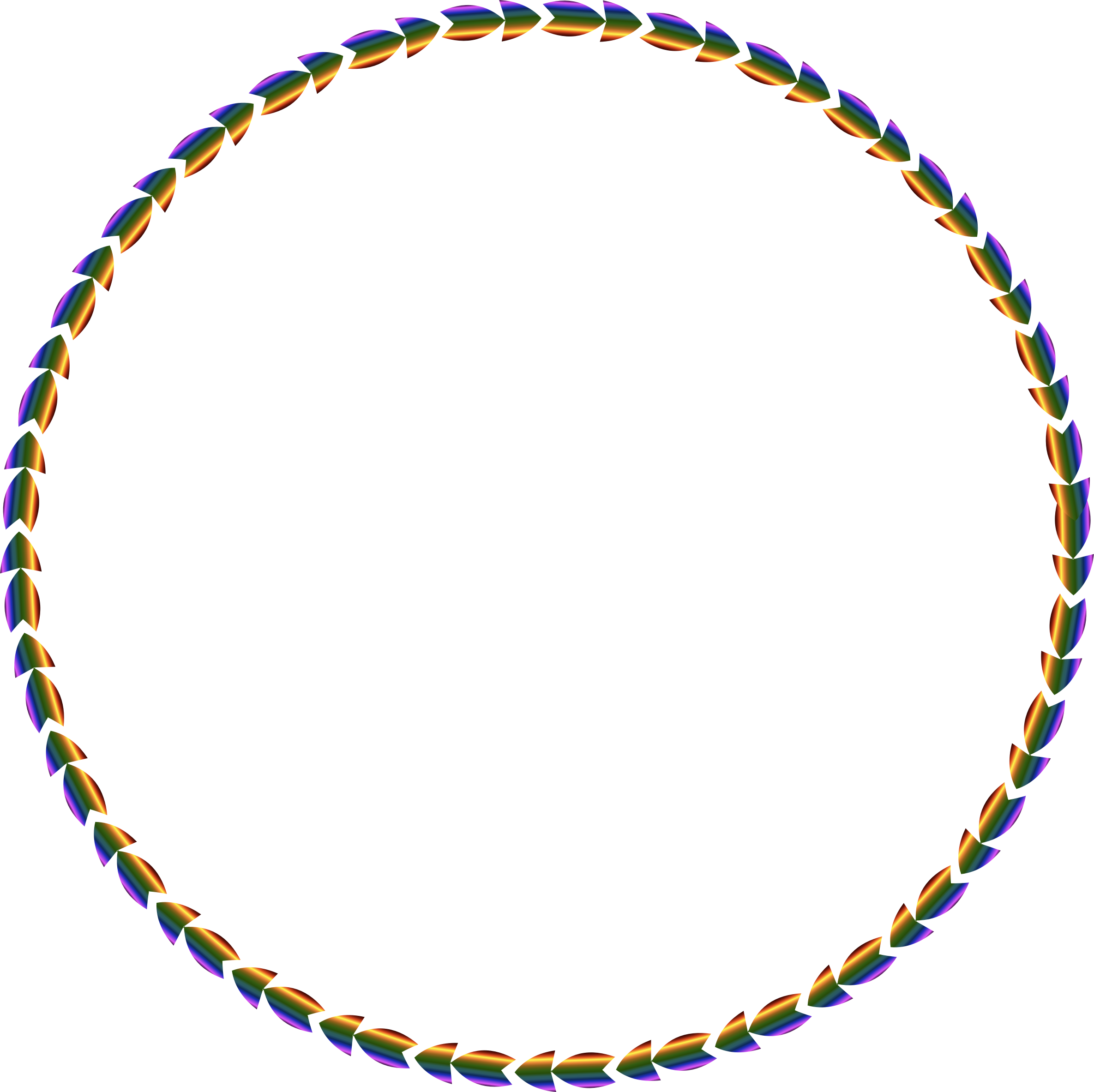 Colorful Direction Circle by GDJ