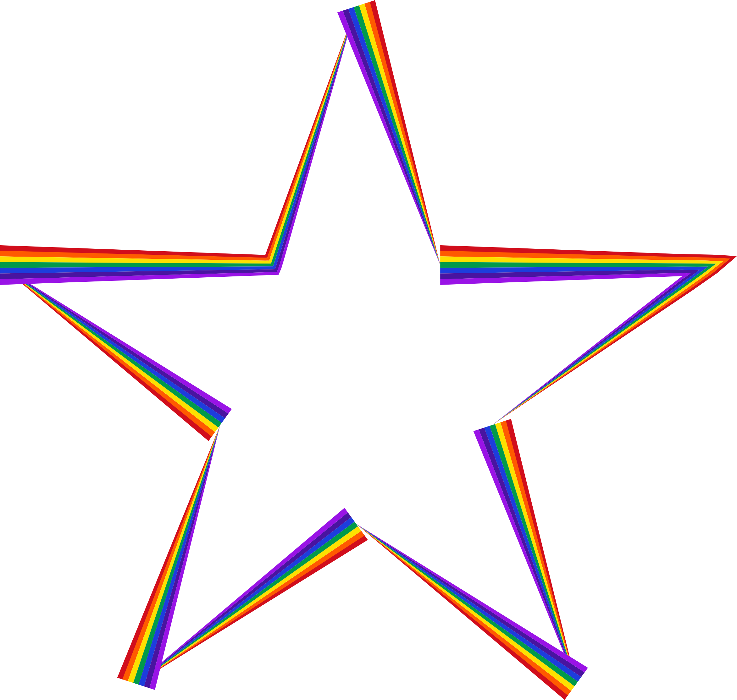Rainbow Star by GDJ