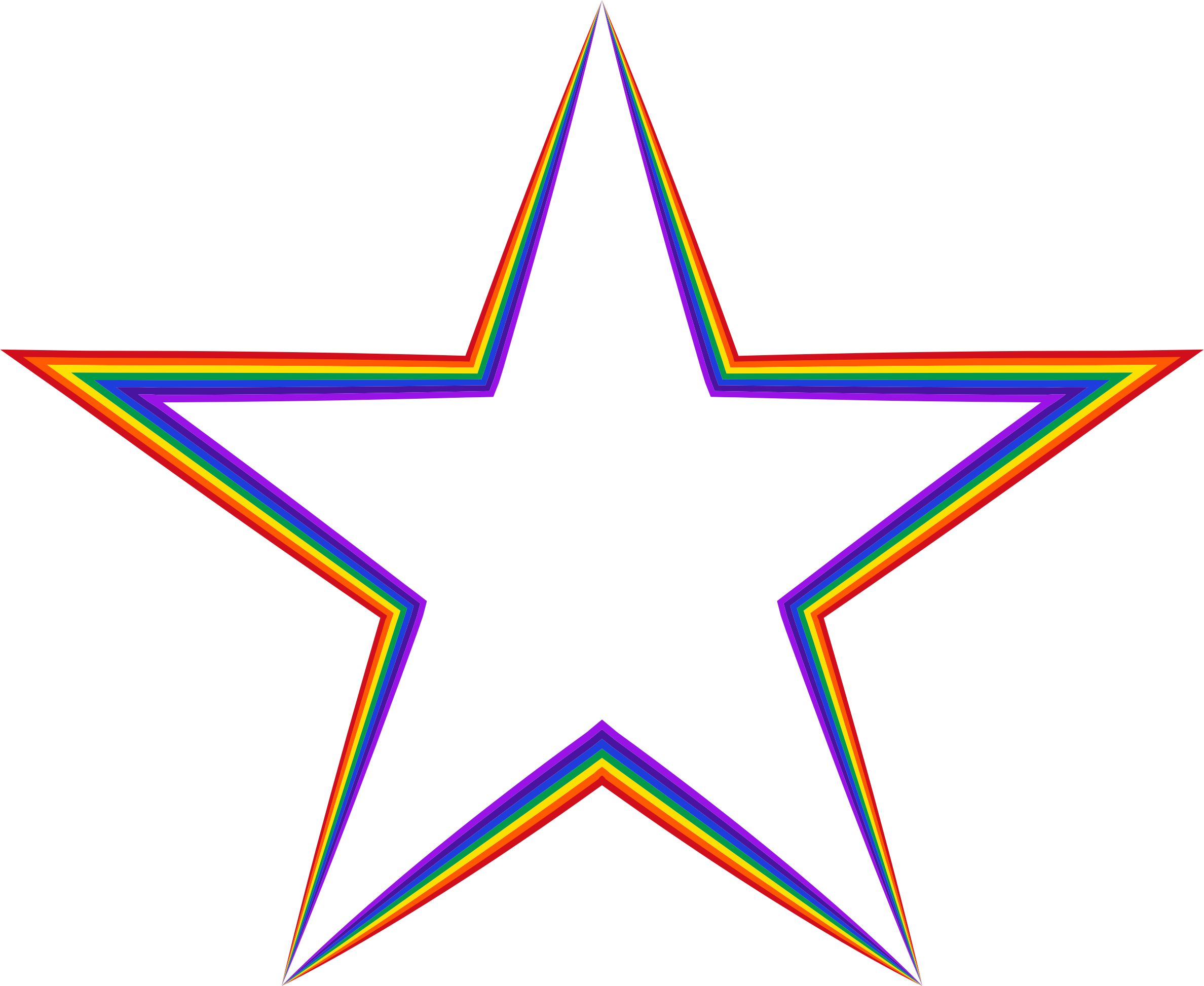 Rainbow Star 4 by GDJ