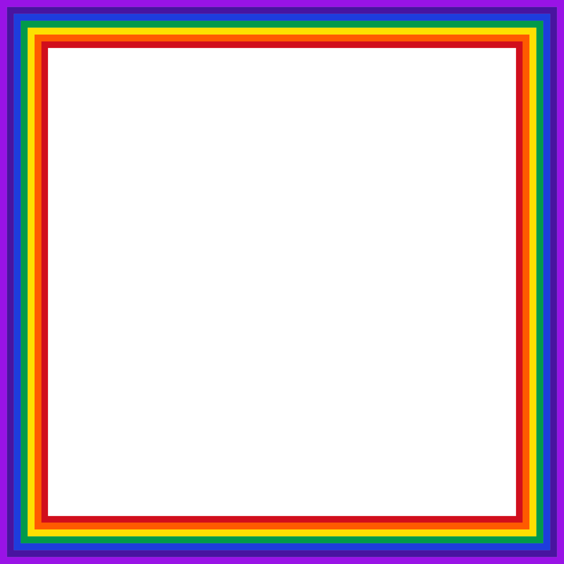 Clipart - Rainbow Square 2