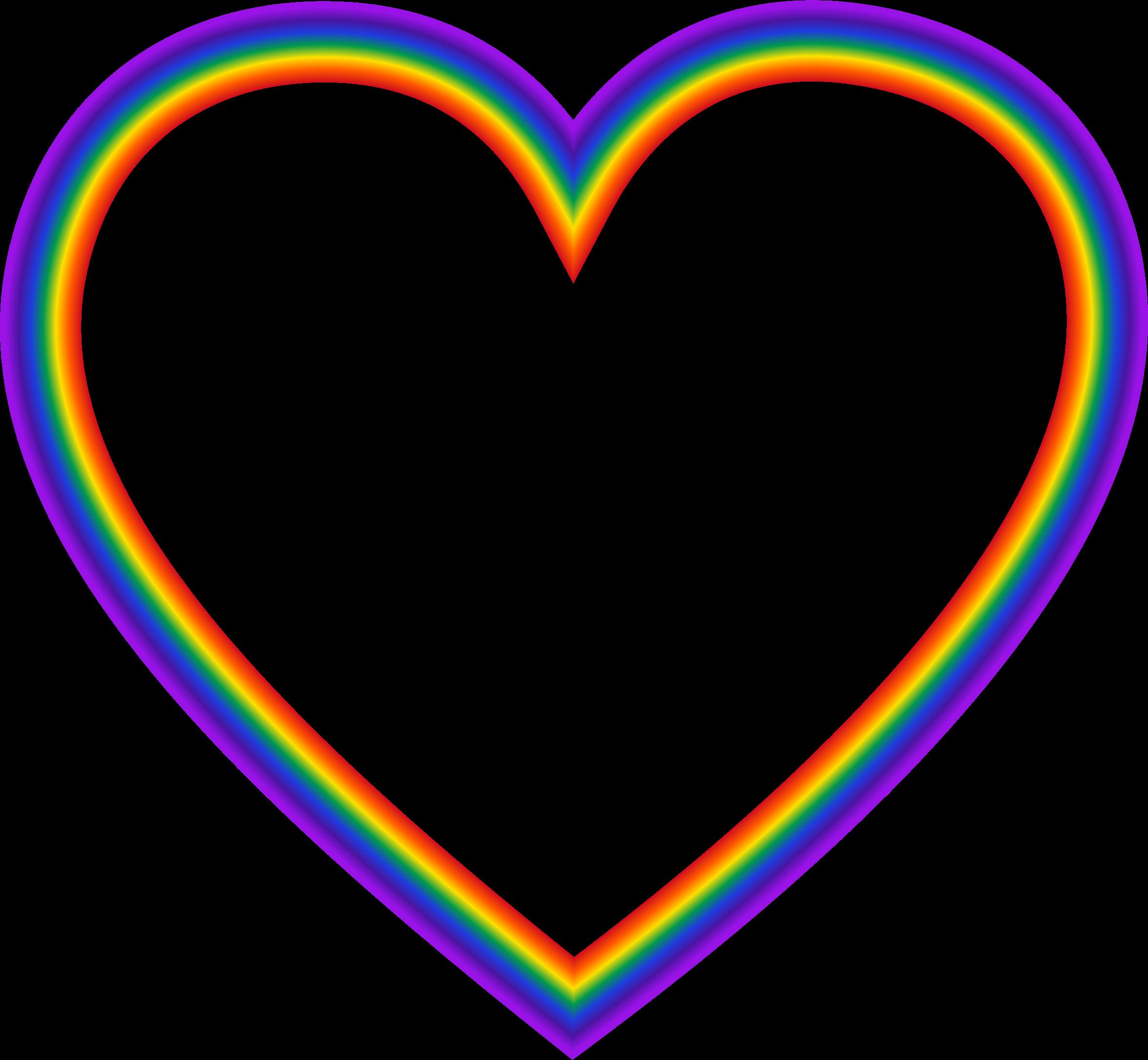 Clipart - Rainbow Heart