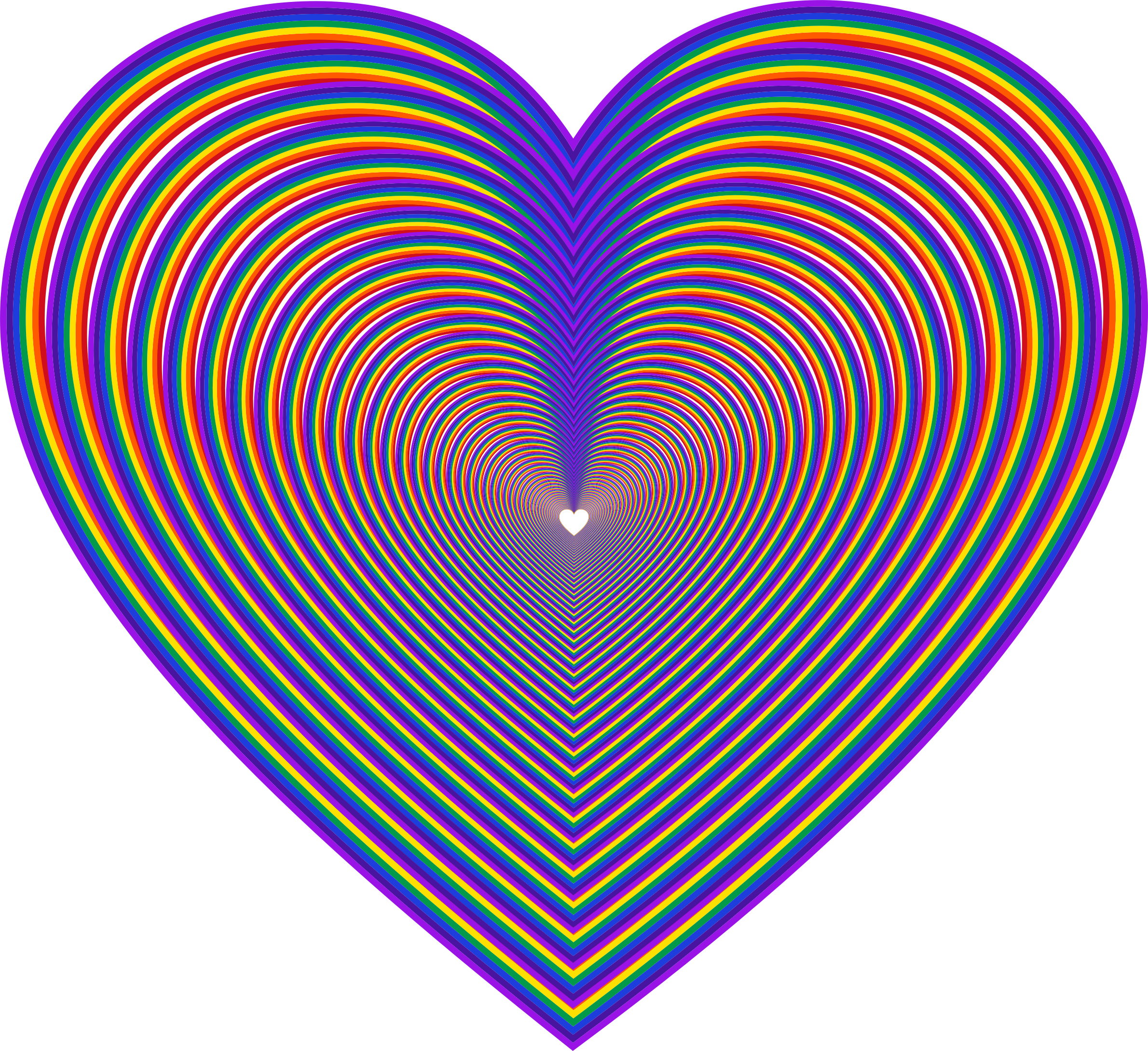 Rainbow Heart 3 by GDJ