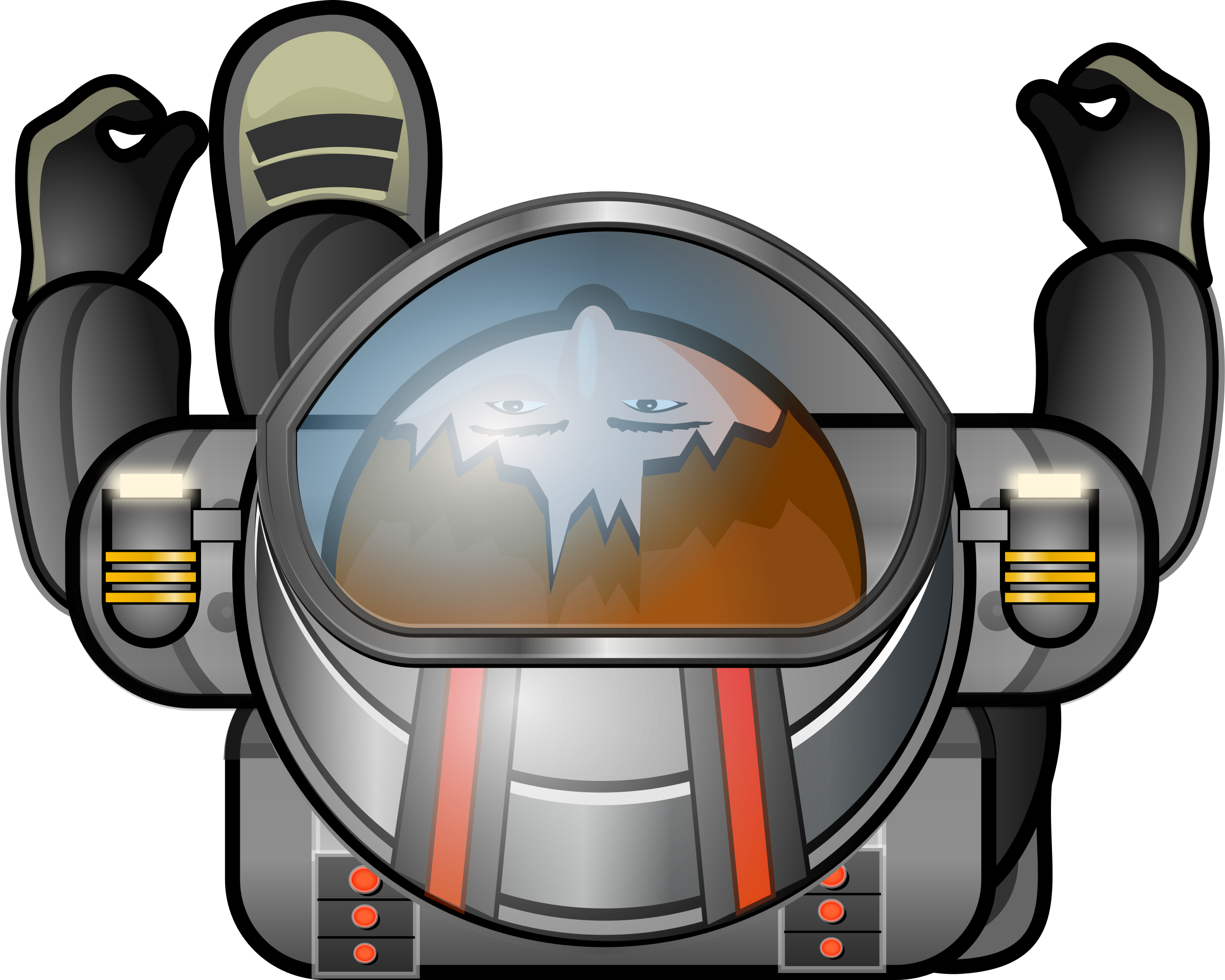 Top-down cosmonaut by Magnesus