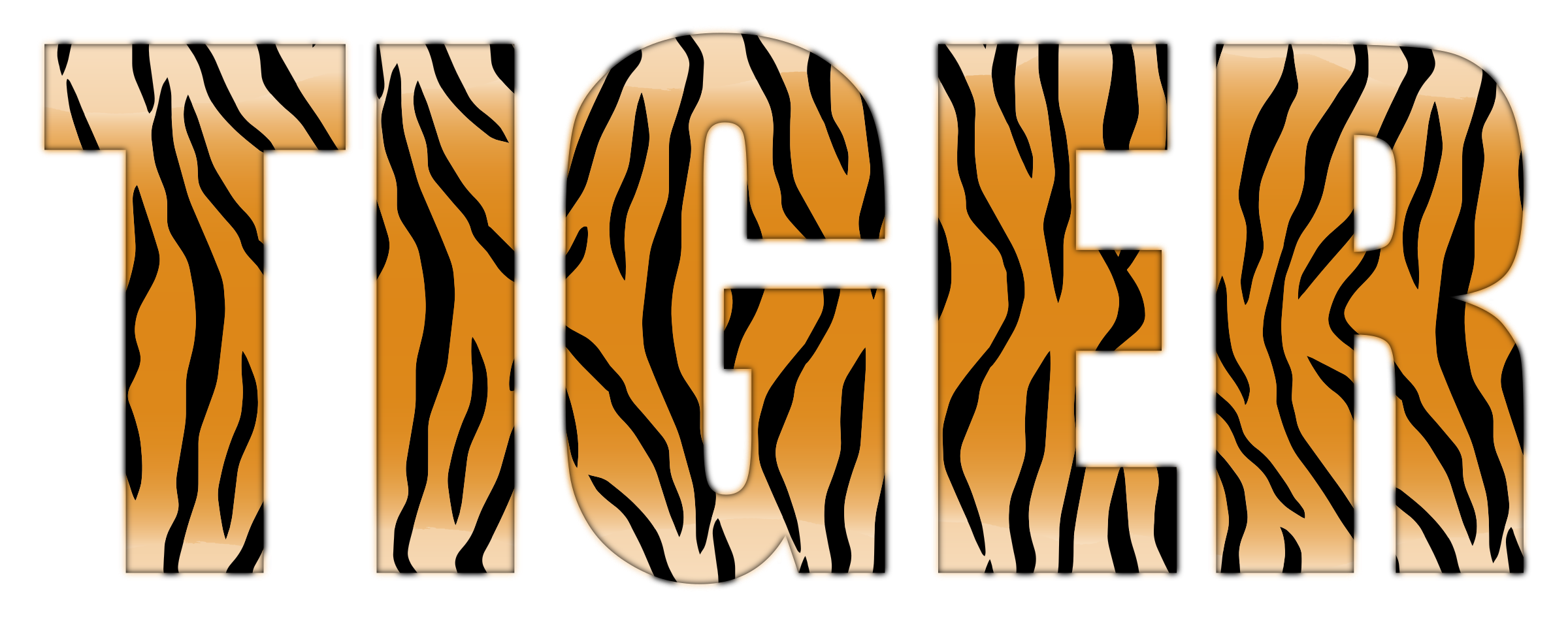 Tiger Typography Enhanced by GDJ