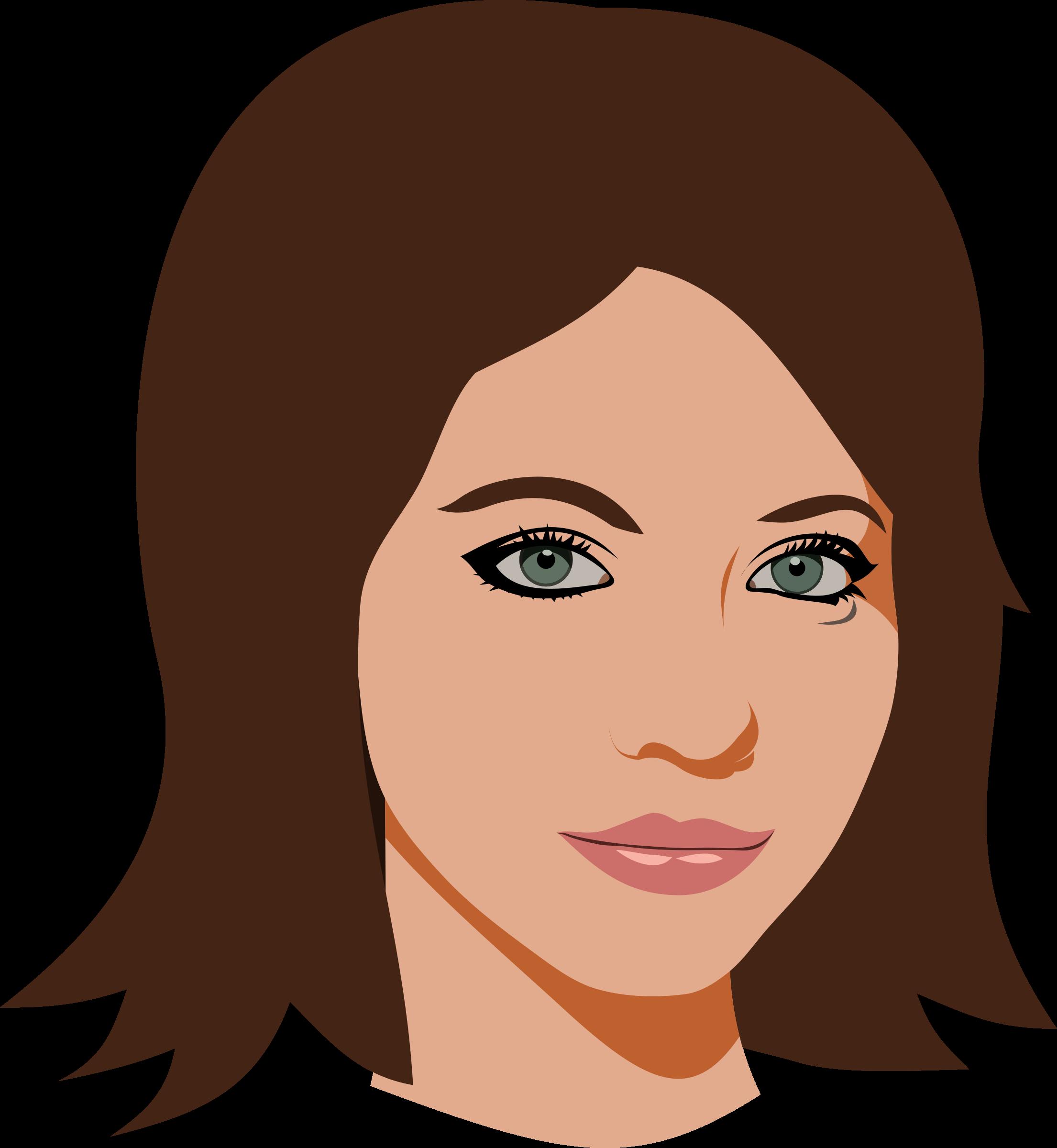 cartoon woman face - HD2210×2400