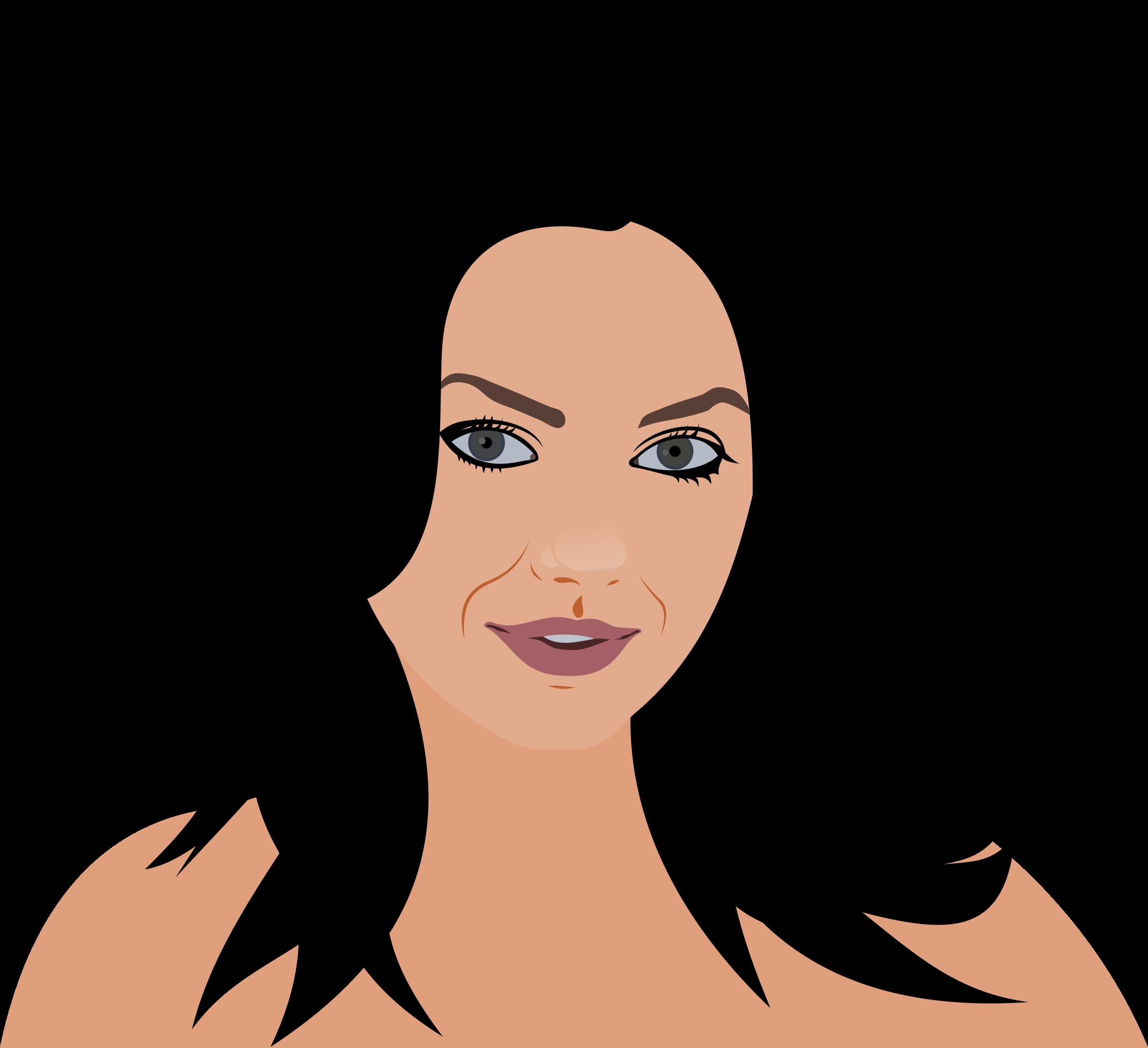 cartoon woman face - HD1280×1168