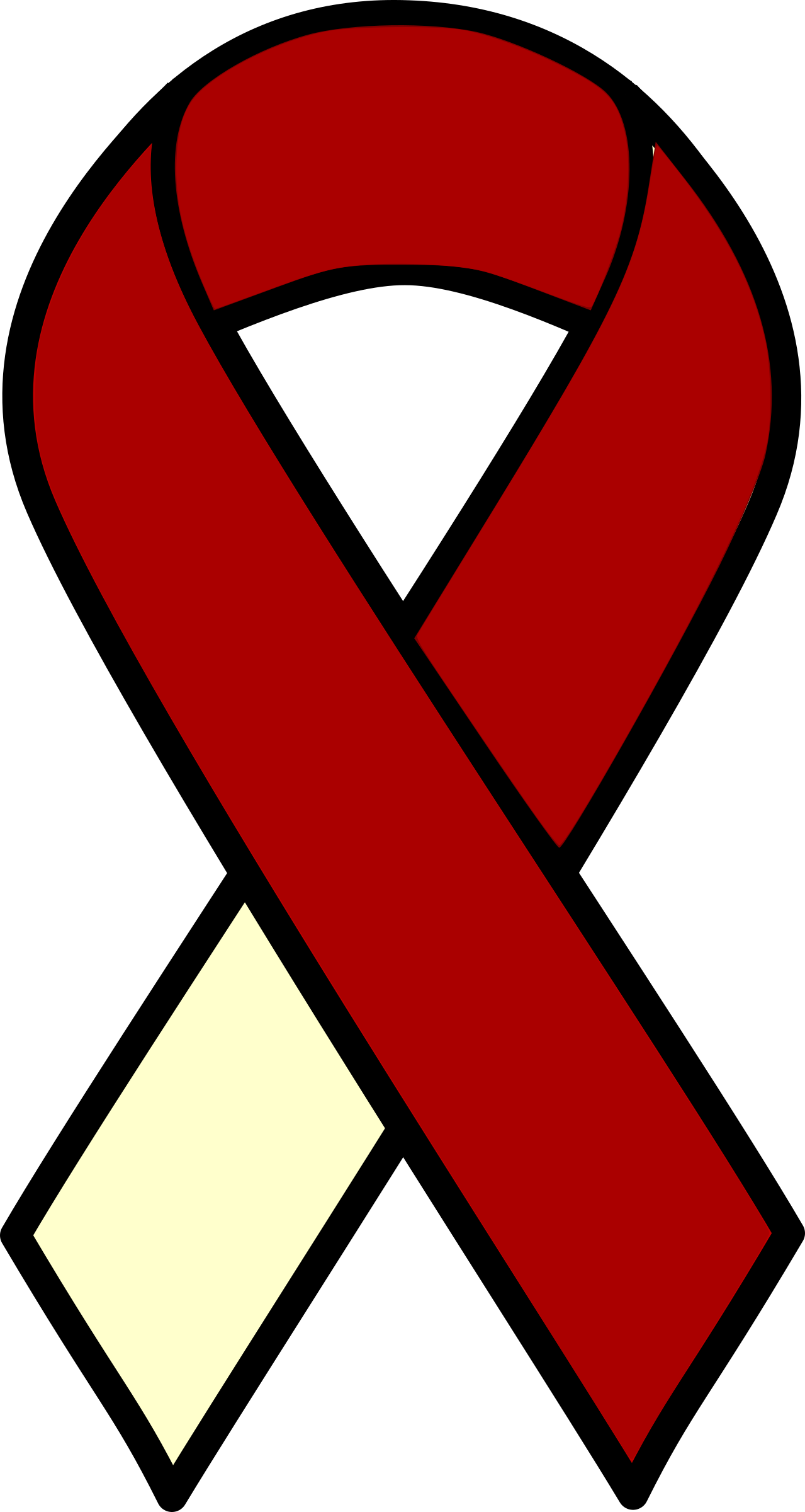 Head and Neck Cancer Ribbon by barnheartowl