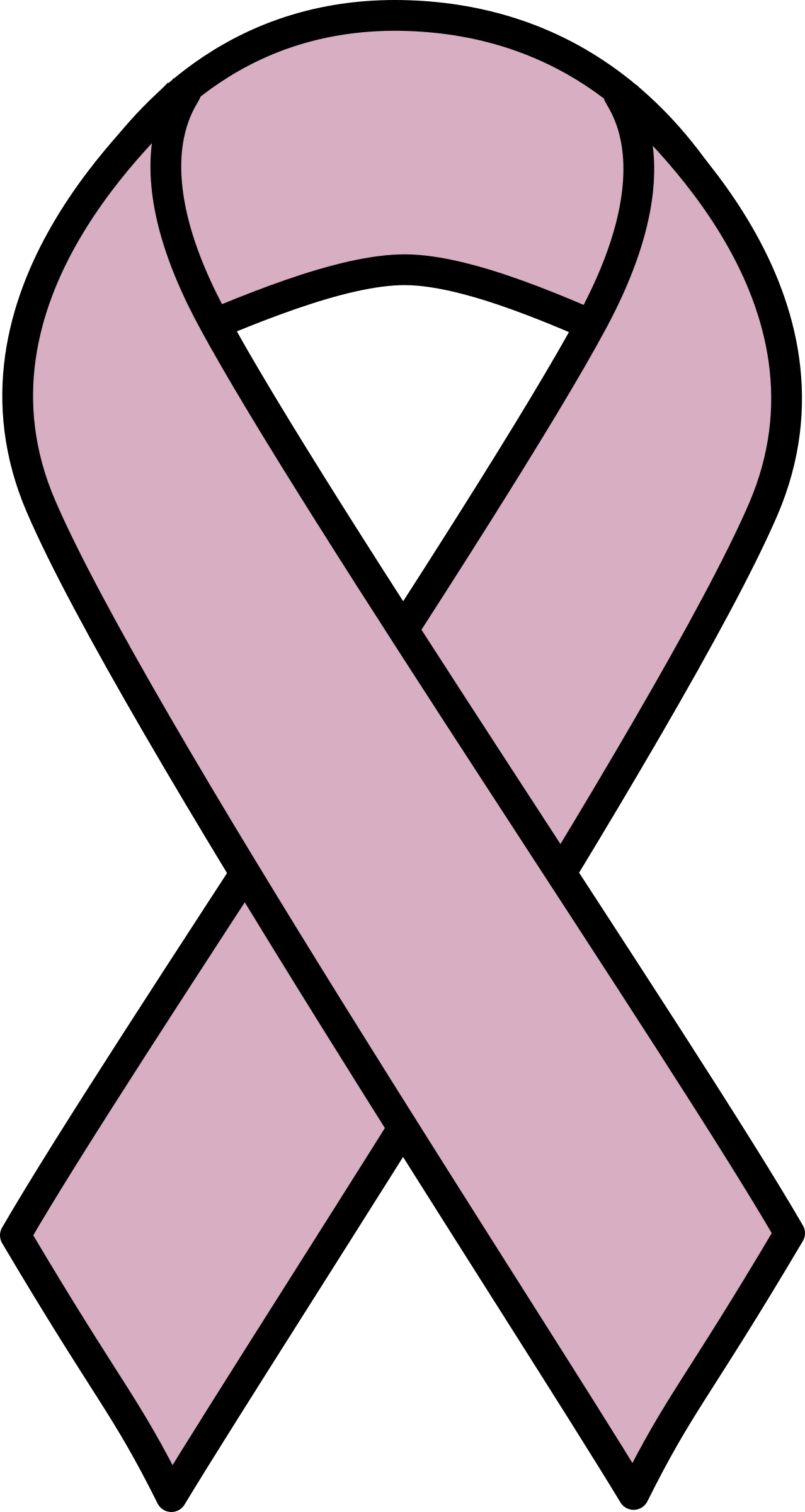 Lavender Ribbon for All Cancers by barnheartowl