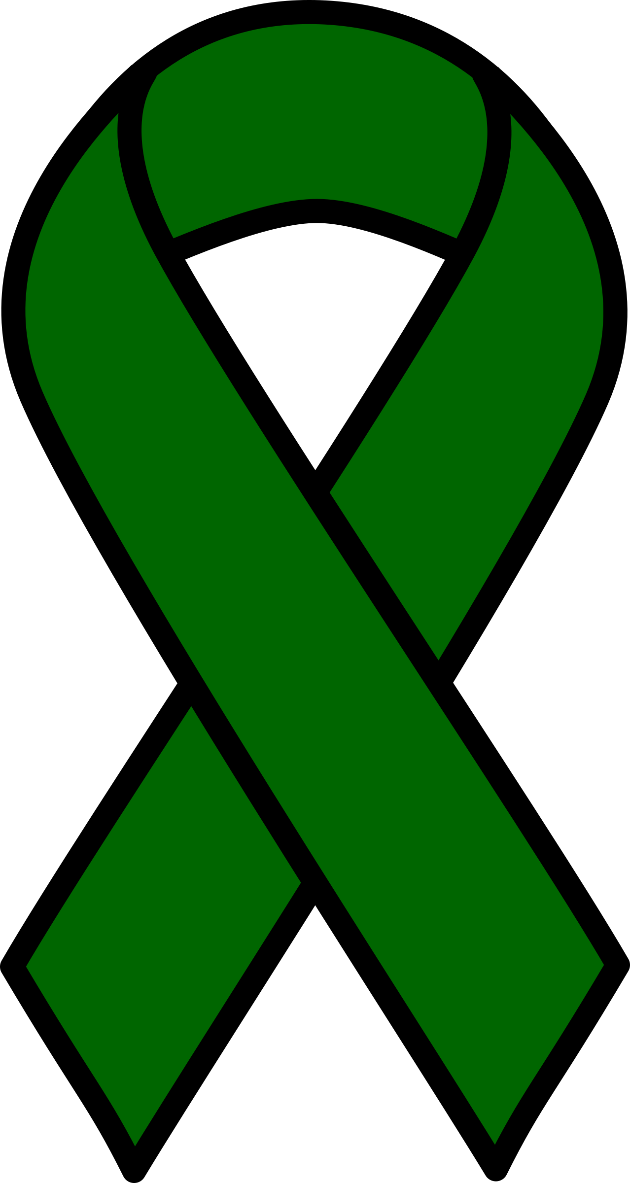 Emerald Liver Cancer Ribbon by barnheartowl