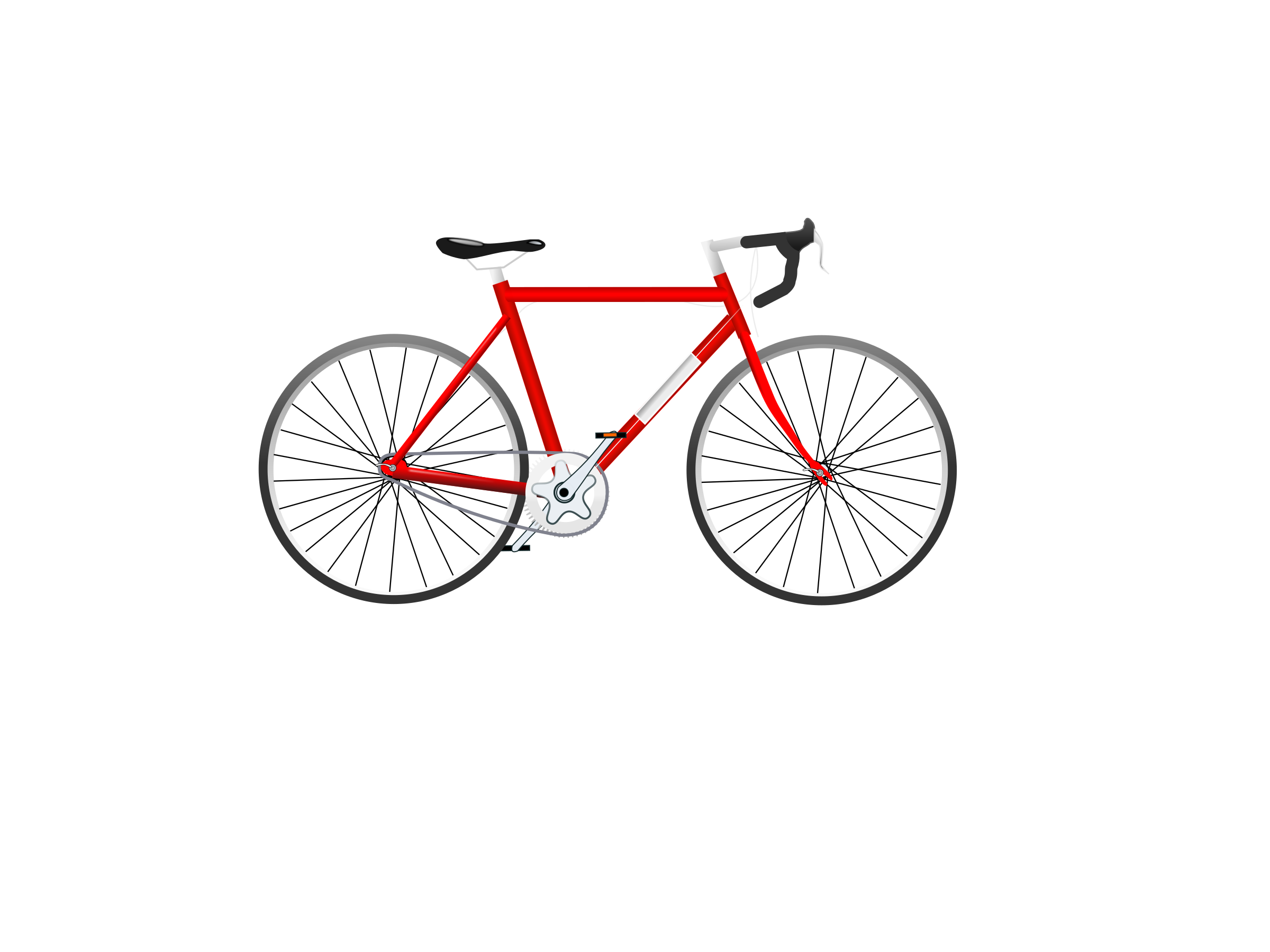 Bicycle, red by PolyLingua