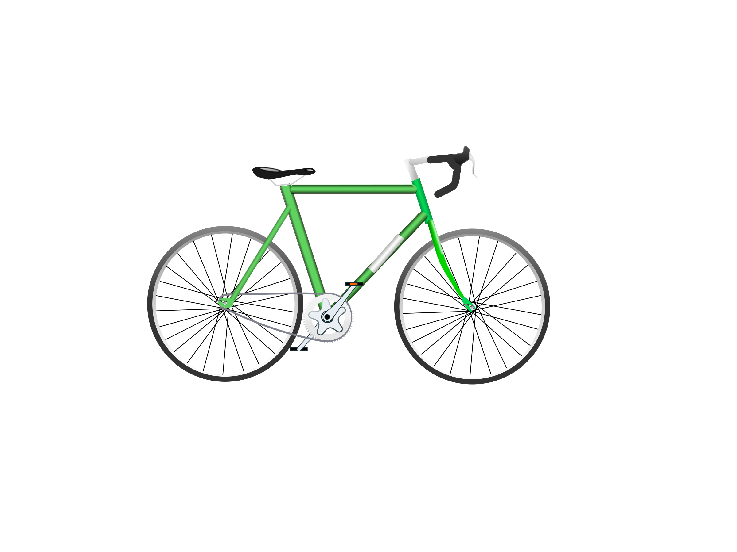 Bicycle, green by PolyLingua