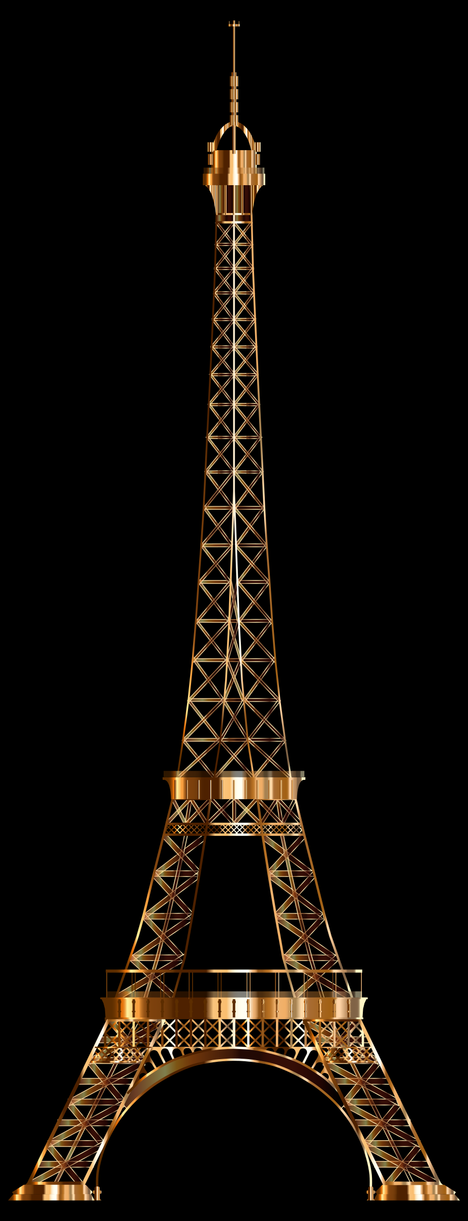 Eiffel Tower Shiny Copper by GDJ