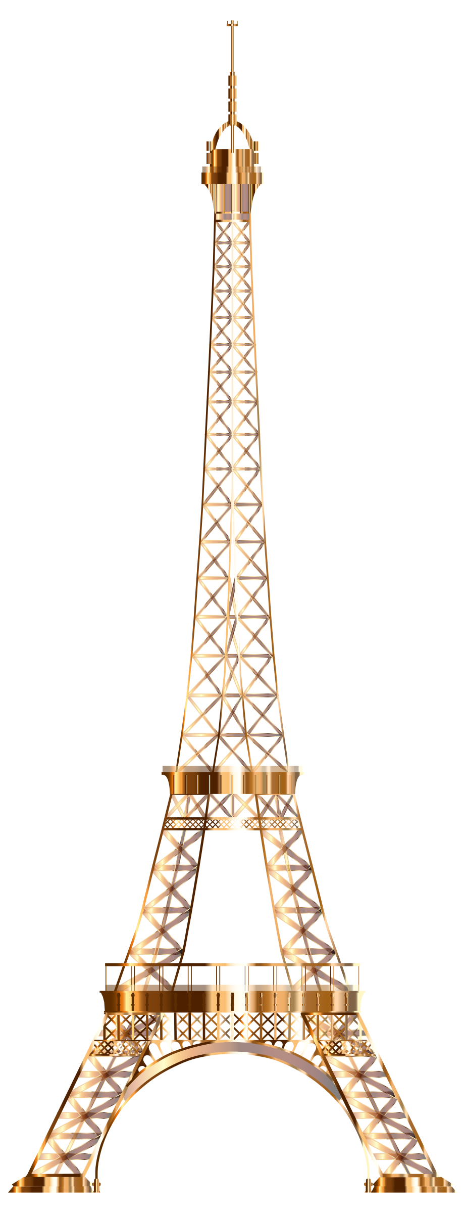 Eiffel Tower Shiny Copper No Background by GDJ