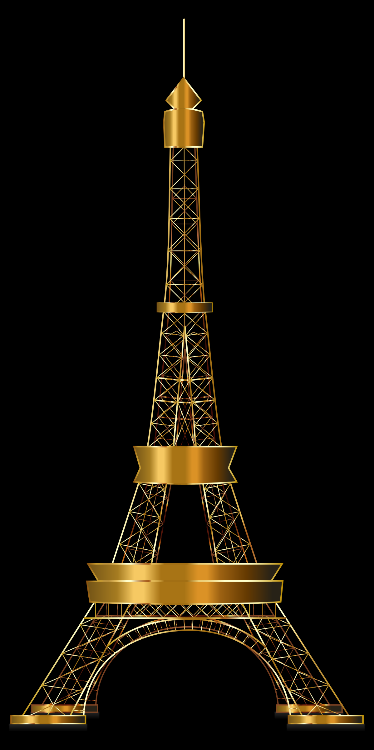 Eiffel Tower Two Gold by GDJ