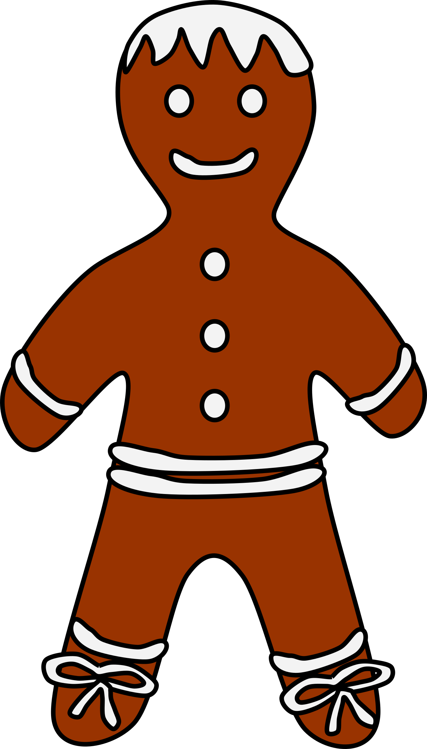 Gingerbread Boy by barnheartowl