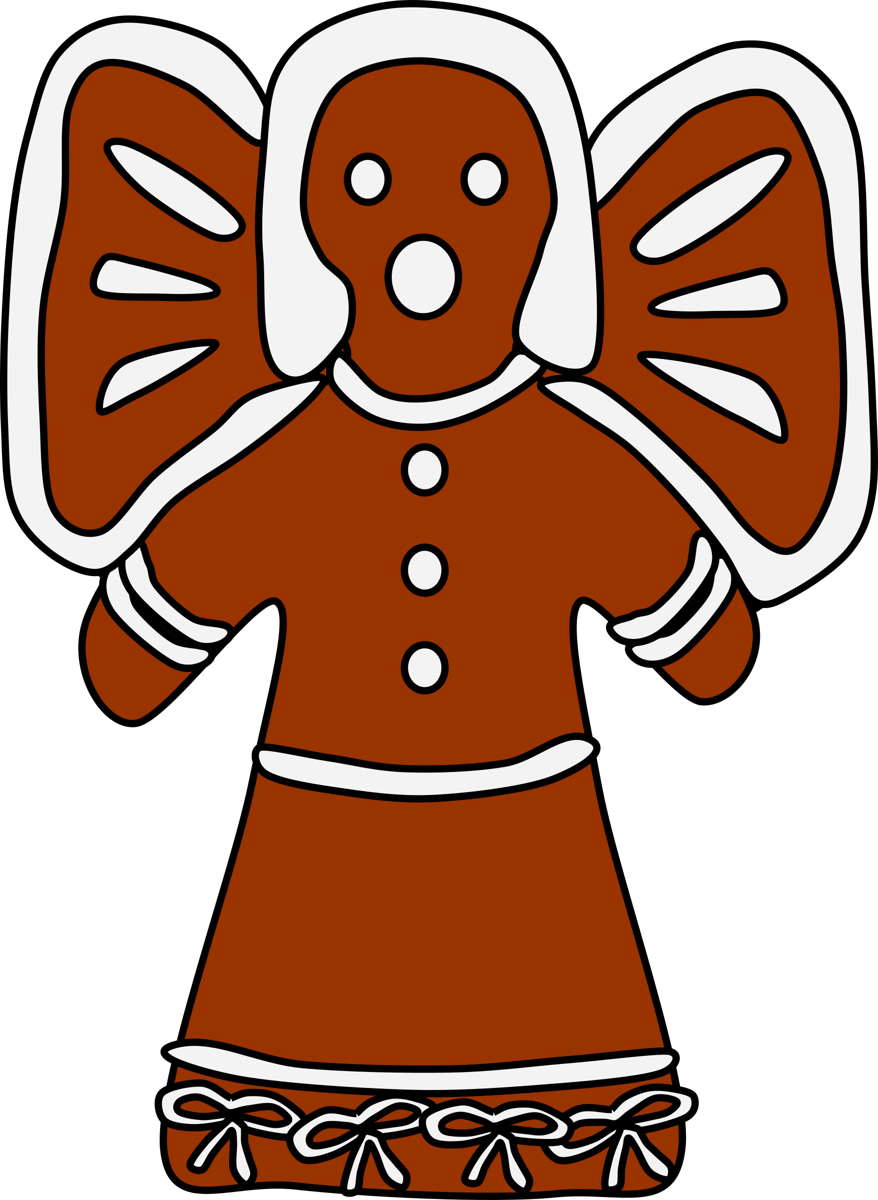 Gingerbread Angel (with bows) by barnheartowl