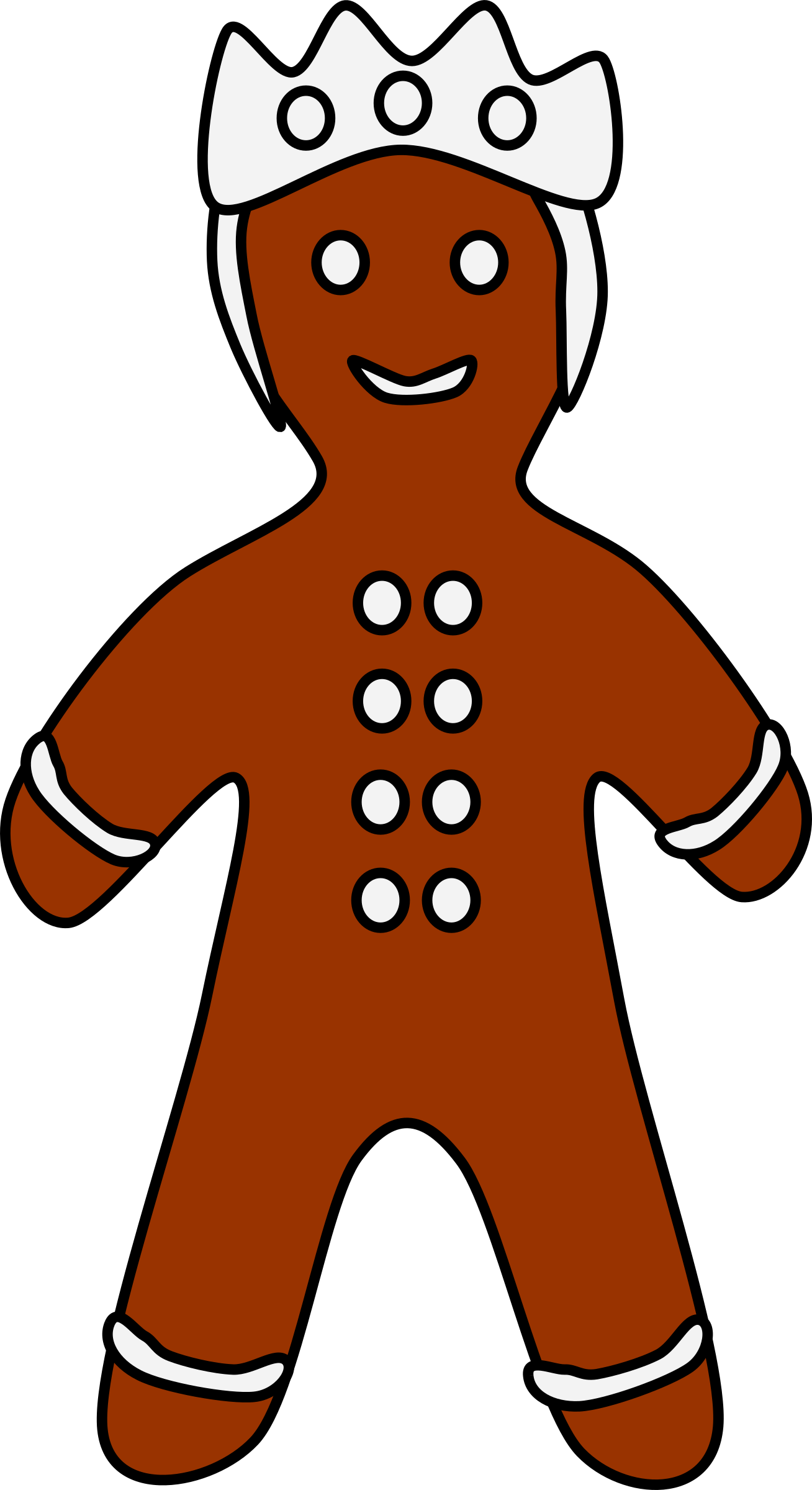 Gingerbread king (many buttons) by barnheartowl
