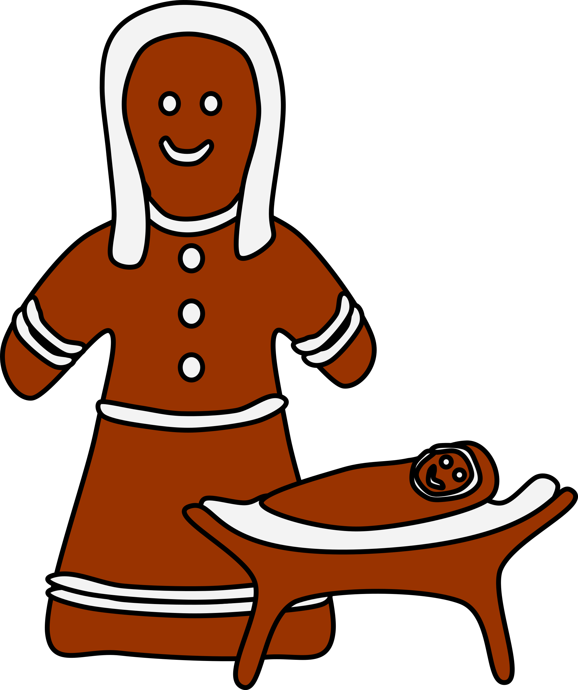 Gingerbread Mary and Jesus by barnheartowl