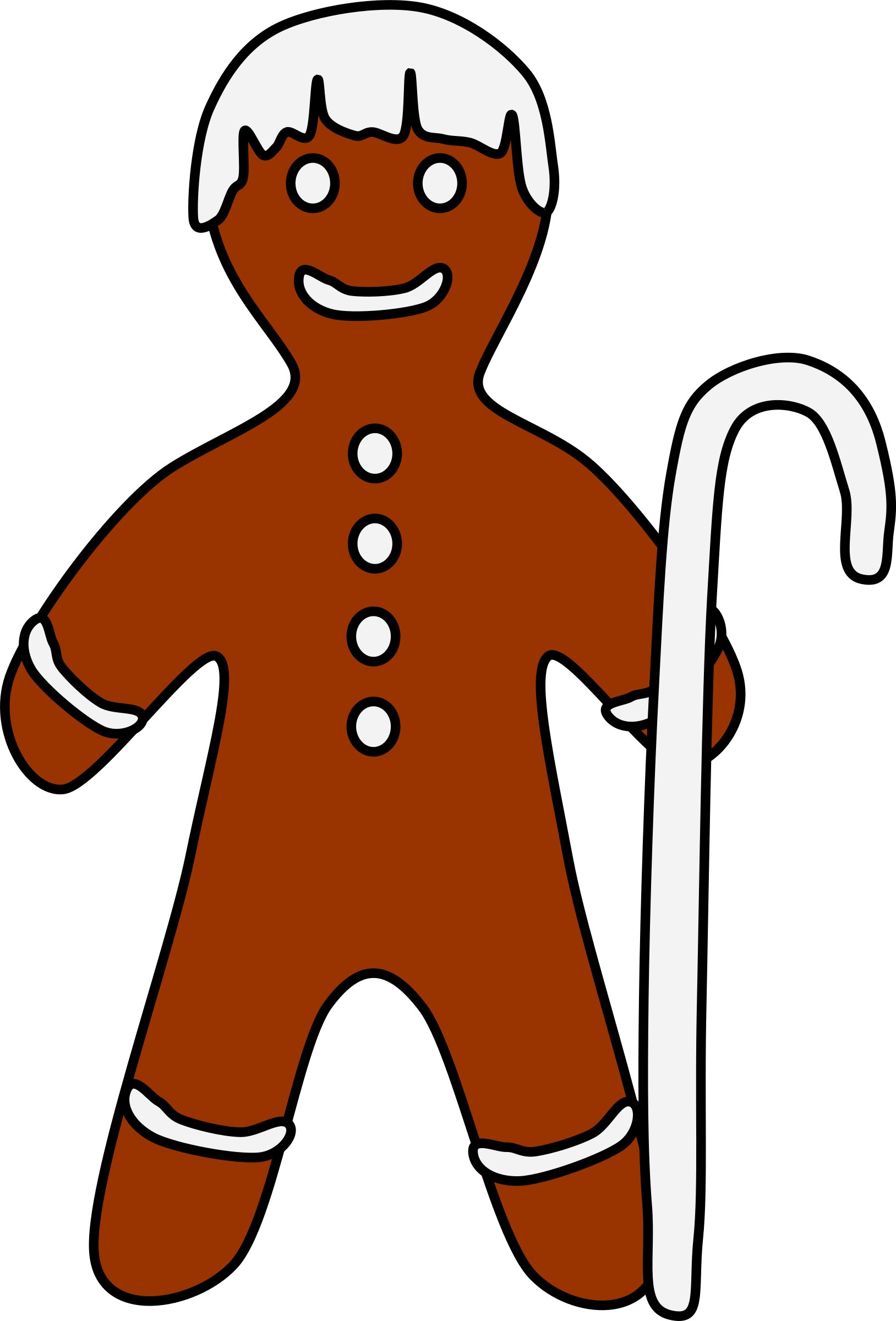 Gingerbread Shepherd with crook by barnheartowl