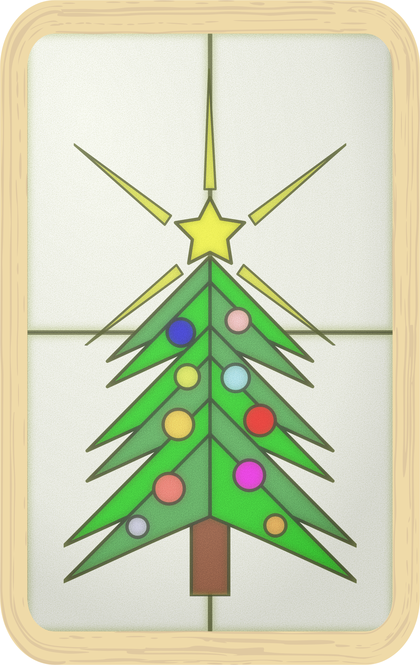 Stained Glass Christmas Tree by Arvin61r58