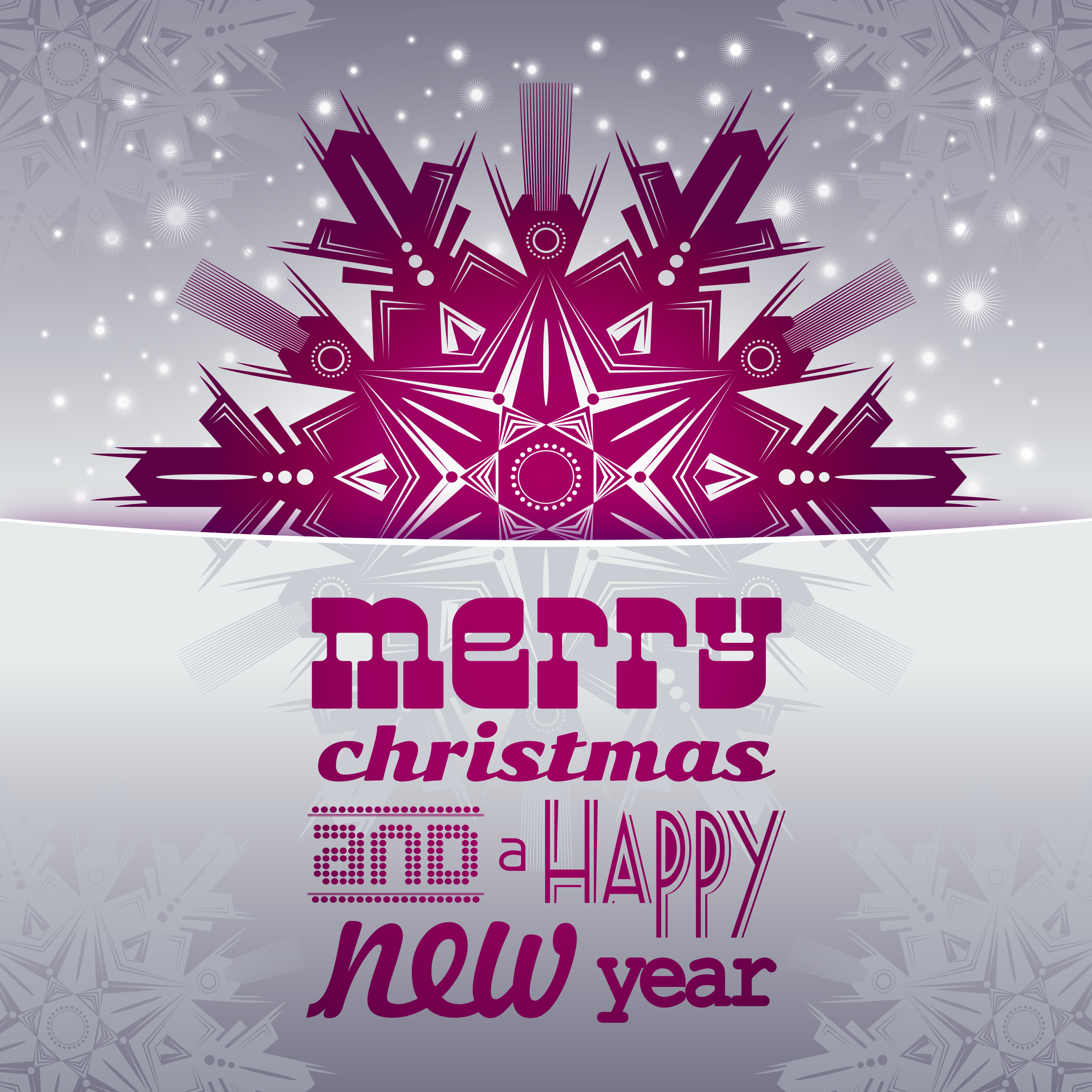 Clipart - Merry Christmas And A Happy New Year Card 2