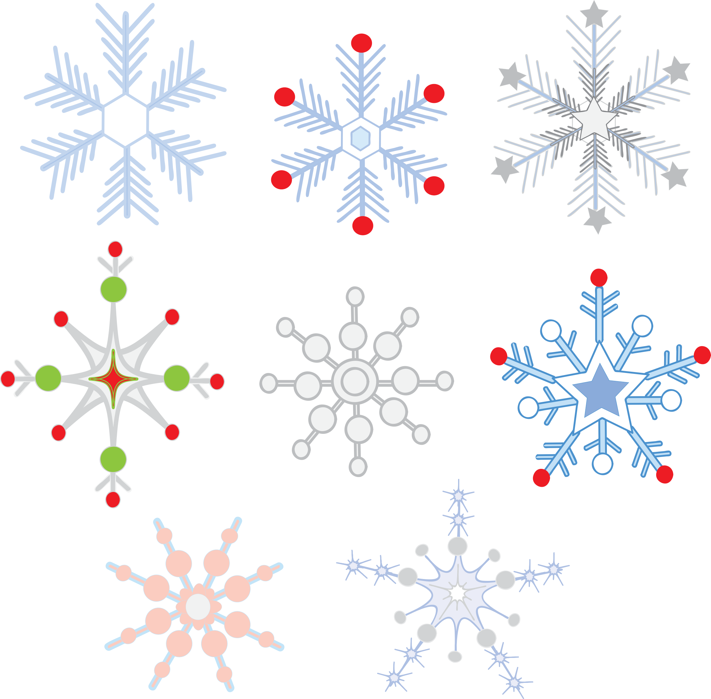 Clipart - SNOWFLAKES